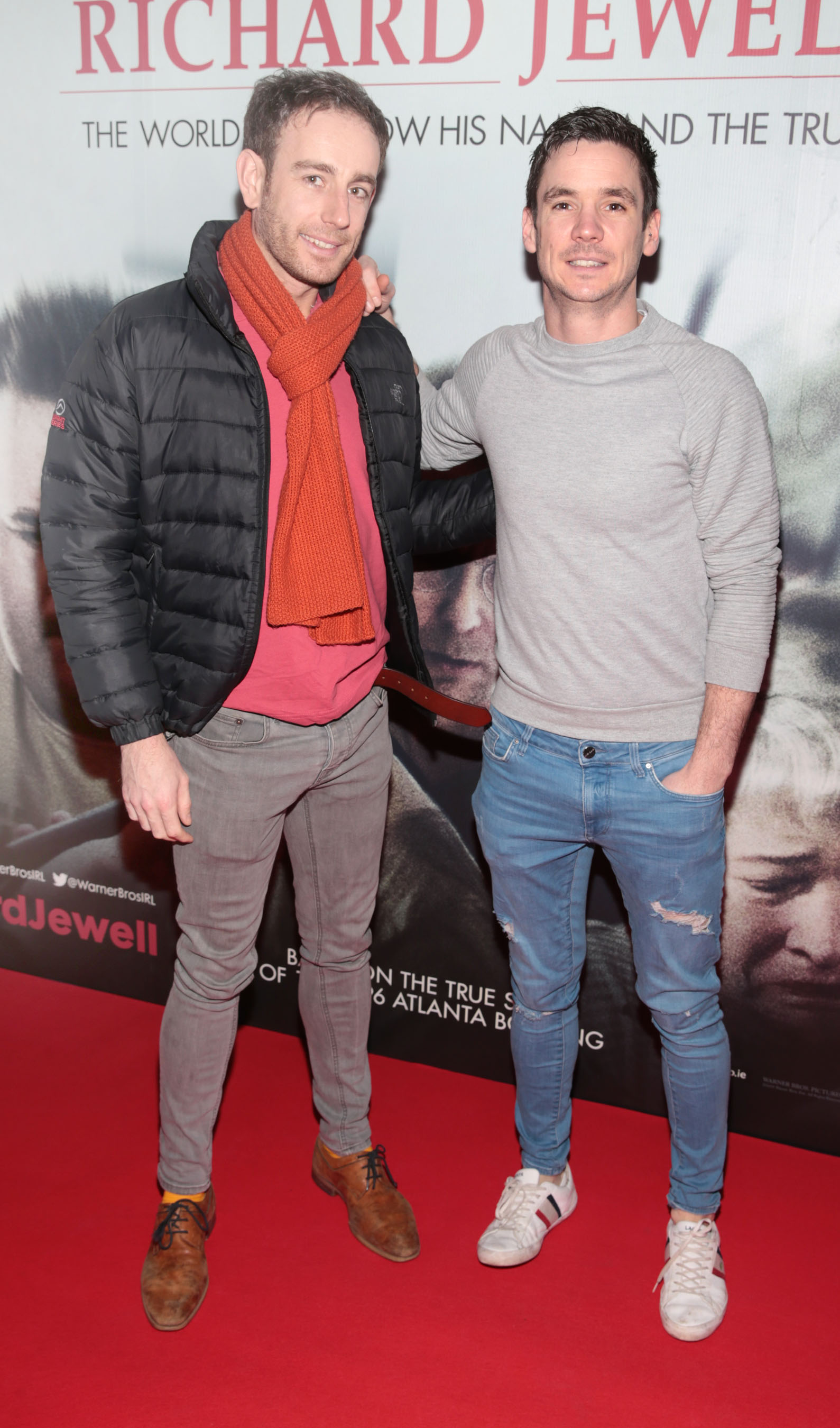 Tom Hatton and Damon Maguire pictured at the special preview screening of Richard Jewell at Cineworld, Dublin. Pic: Brian McEvoy