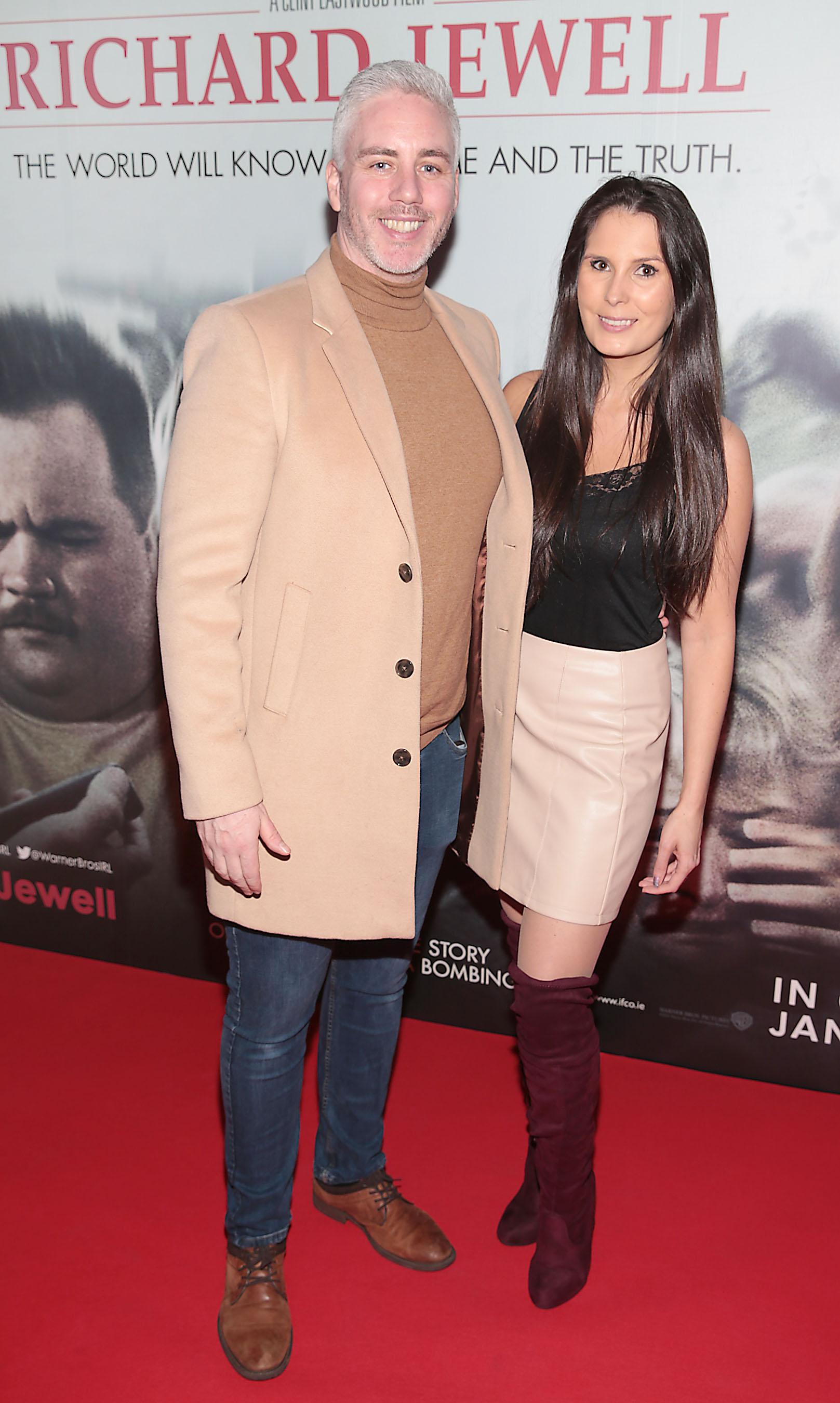 Pat Murphy and Dani Masterson pictured at the special preview screening of Richard Jewell at Cineworld, Dublin. Pic: Brian McEvoy