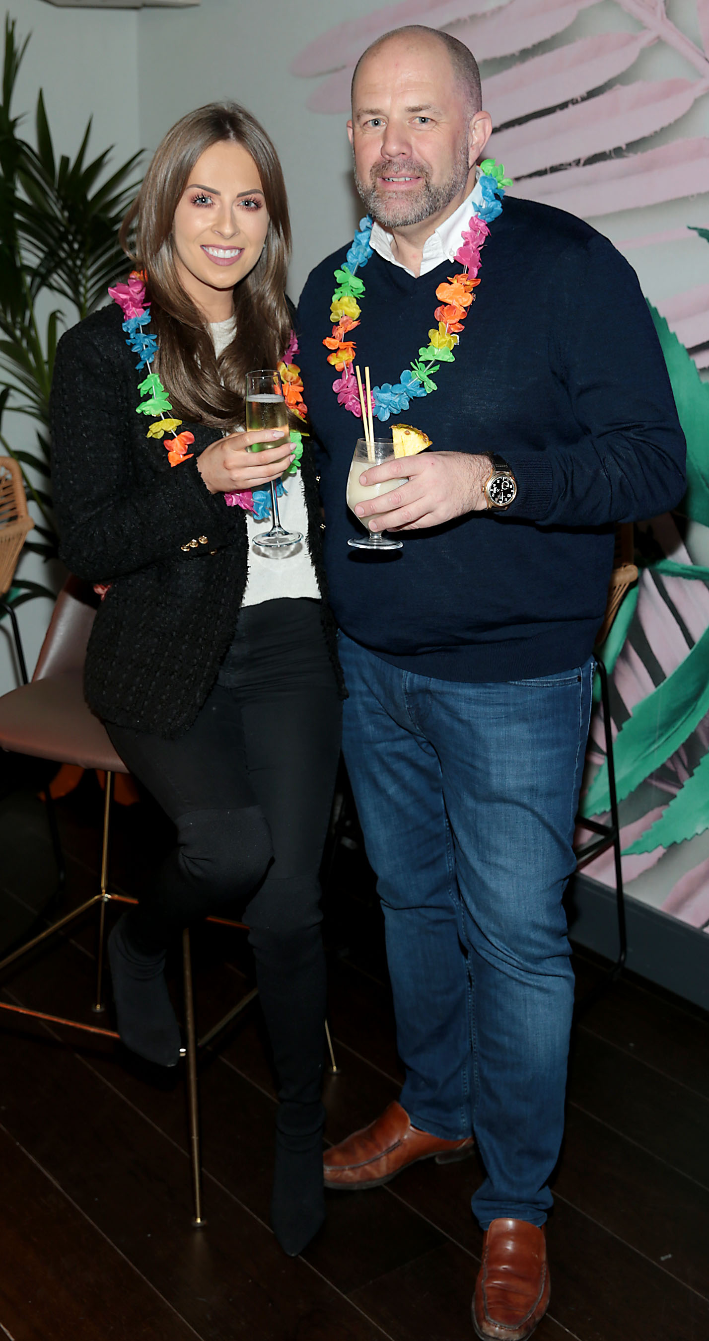 Ali Leddin and Ian Redmond pictured at the opening of Ohana in Harcourt Street, Dublin. Pic: Brian McEvoy