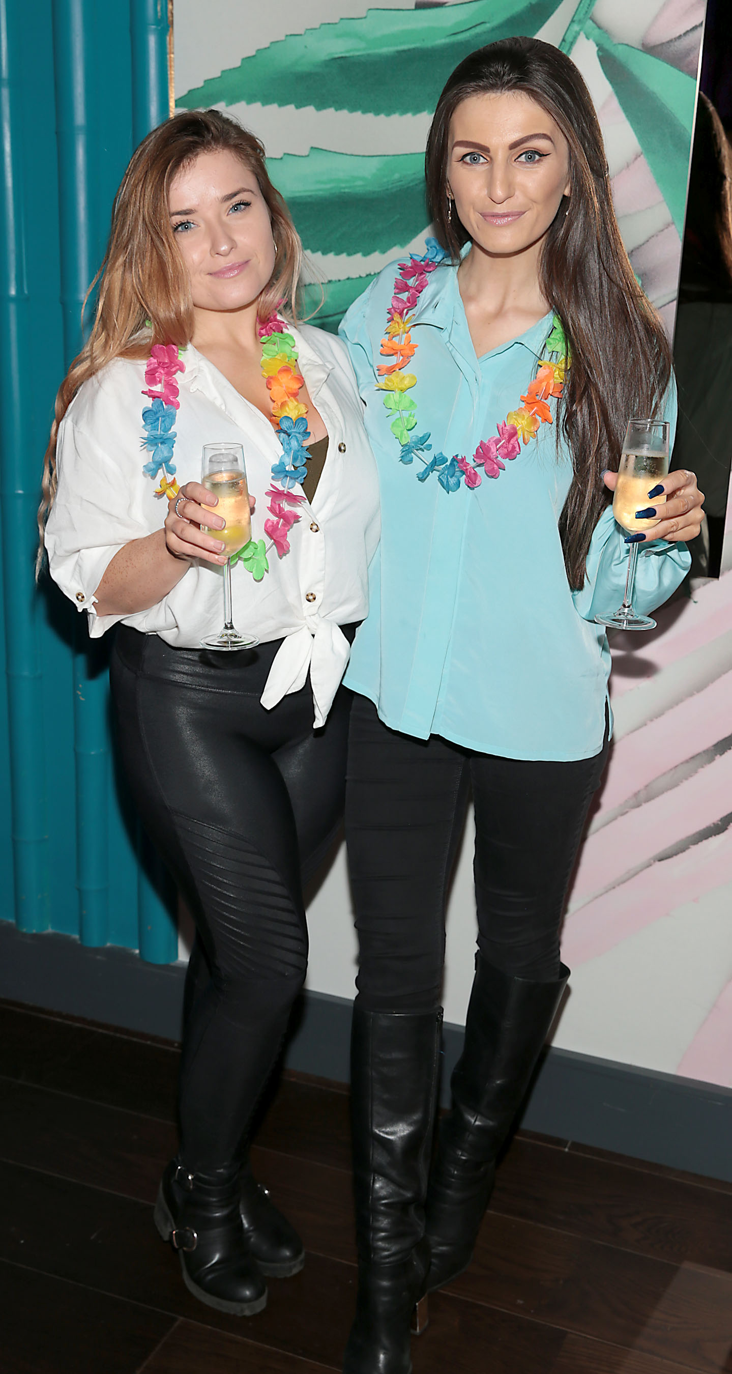 Emma Costello and Fionnuala Moran at the opening of Ohana Tiki Bar in Harcourt Street, Dublin. Pic Brian McEvoy No Repro fee for one use