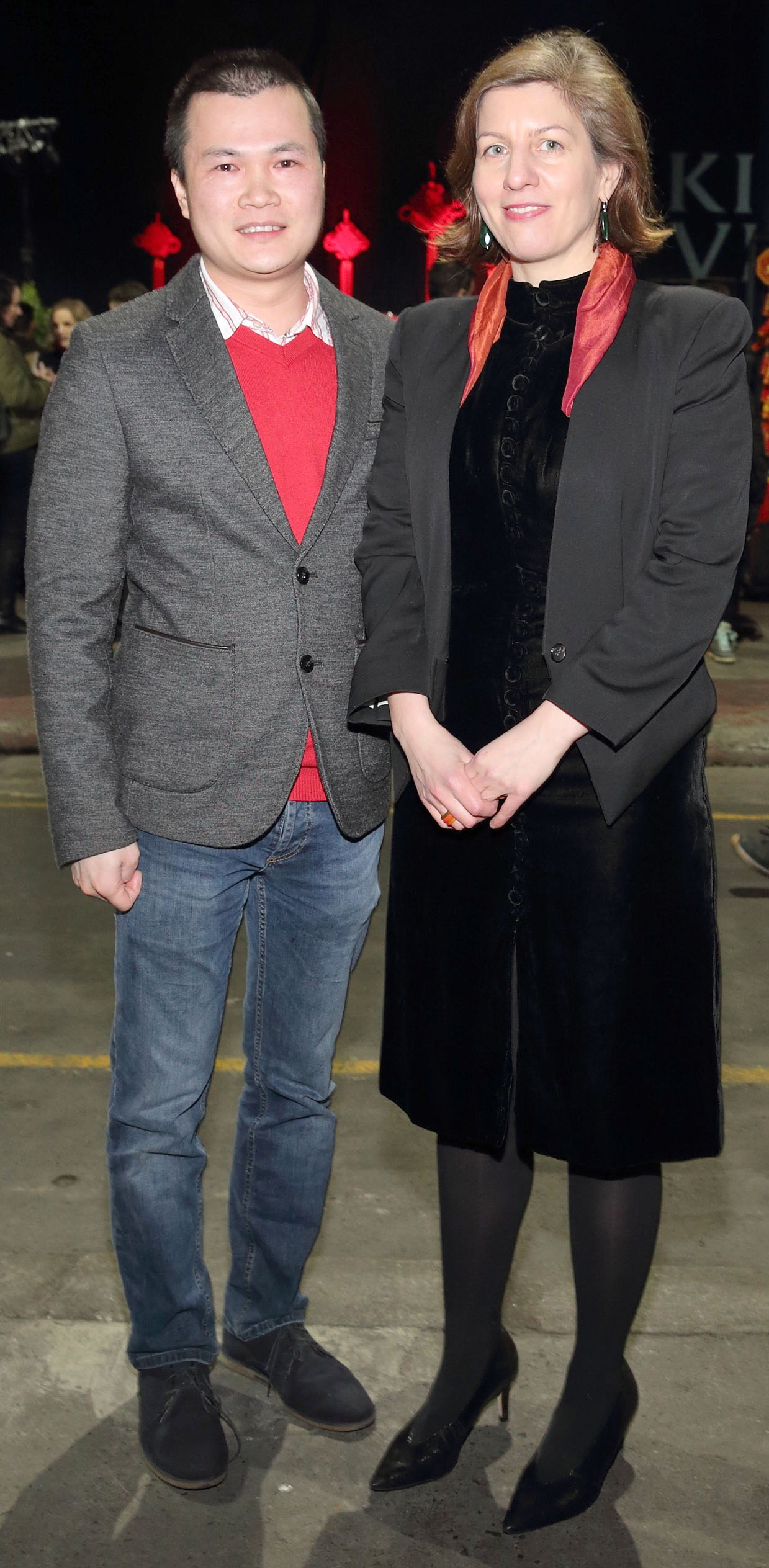 Xiaoyu Chen and Aimee Van Wylick at the opening ceremony of Dublin Chinese New Year Festival 2020 which runs from 24th January - 10th February and celebrates the Year of the Rat.  Pic: Brian McEvoy Photography