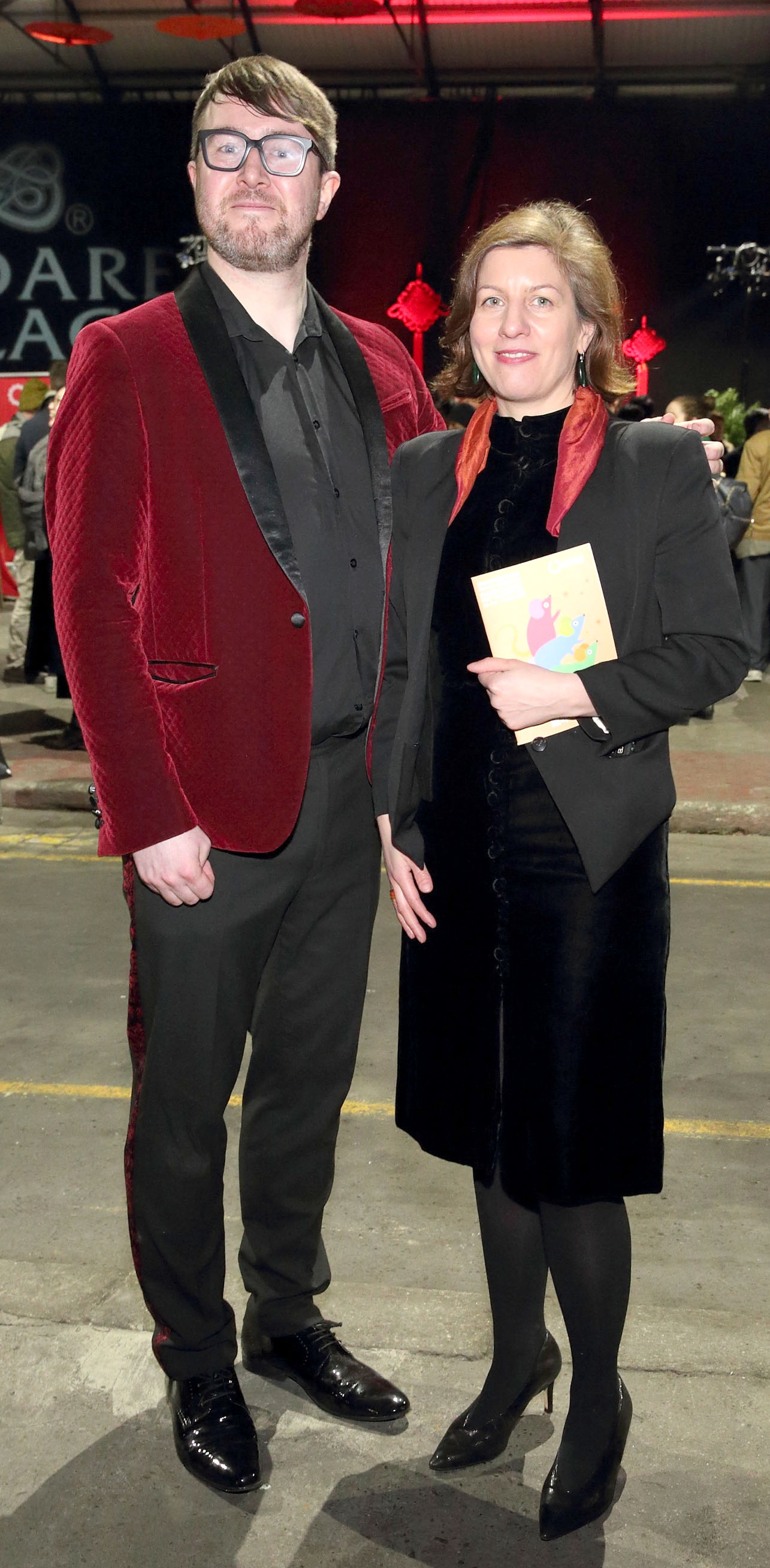 Joey Kavanagh and Aimee Van Wylick at the opening ceremony of Dublin Chinese New Year Festival 2020 which runs from 24th January - 10th February and celebrates the Year of the Rat.  Pic: Brian McEvoy Photography