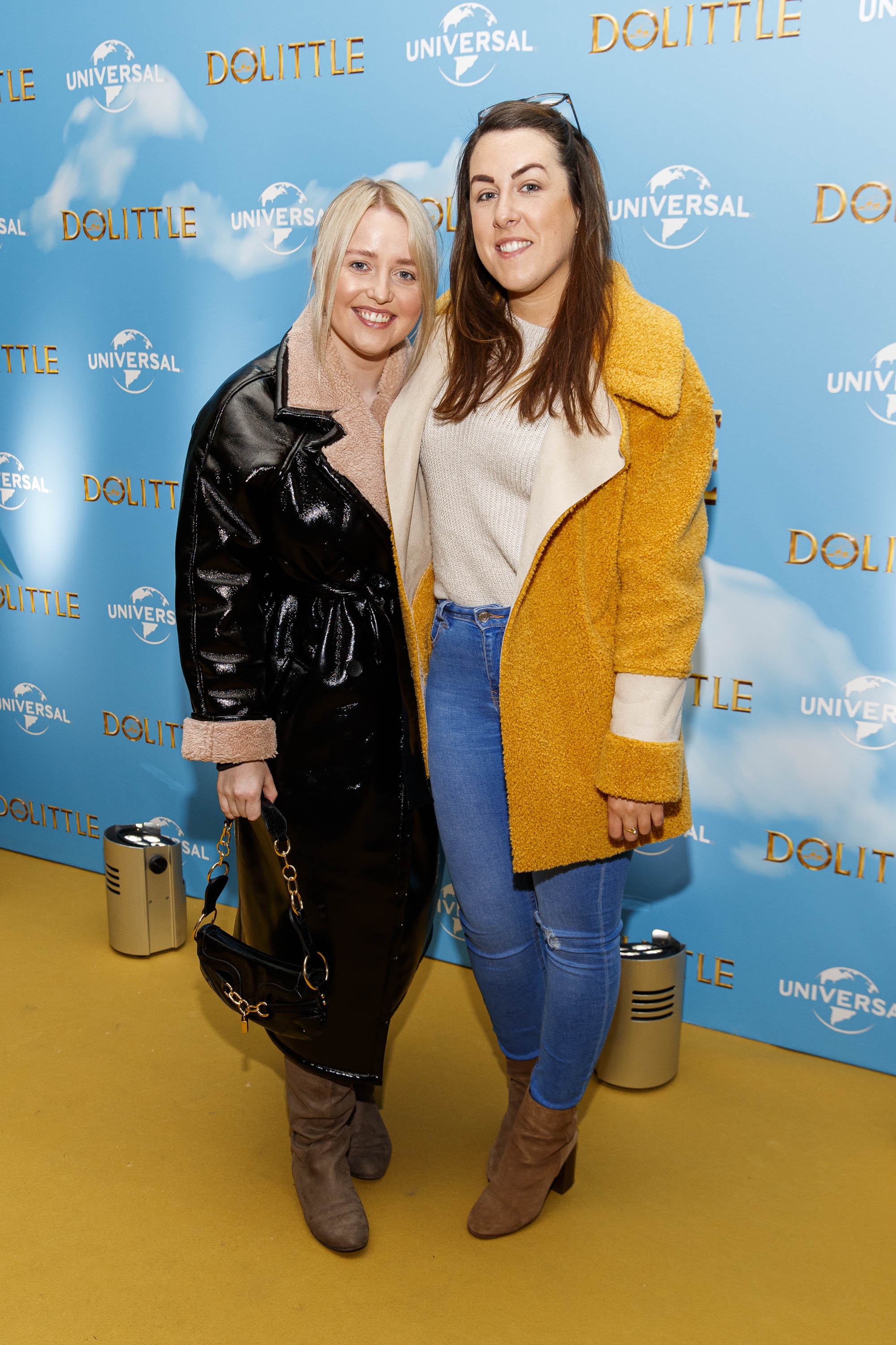 Lorna Mullett and GHrace Coughlan pictured at the Universal Pictures special preview screening of Dolittle at Odeon Point Square, Dublin.