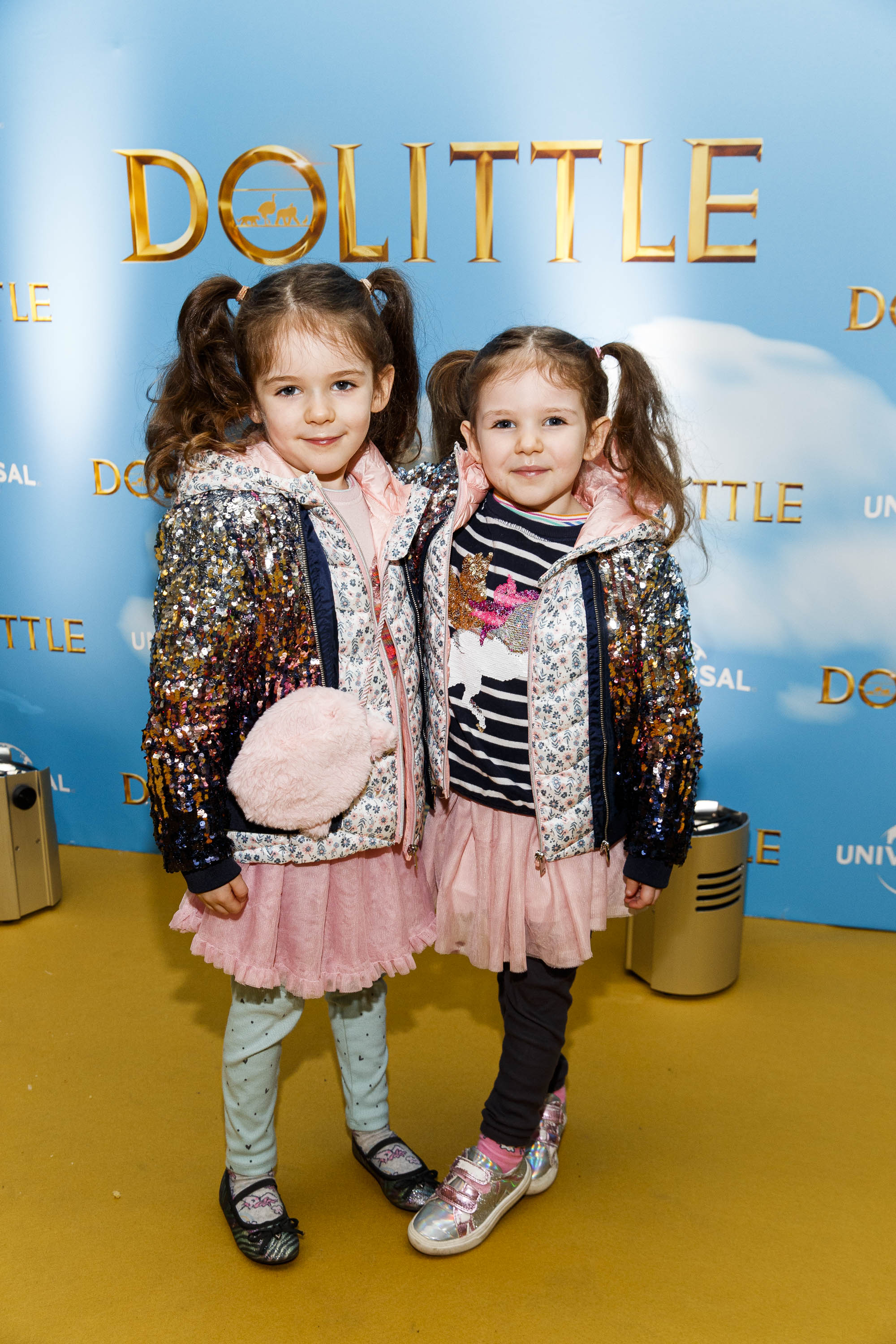 Ruby (6) and Alice Eastwood (5) pictured at the Universal Pictures special preview screening of Dolittle at Odeon Point Square, Dublin.