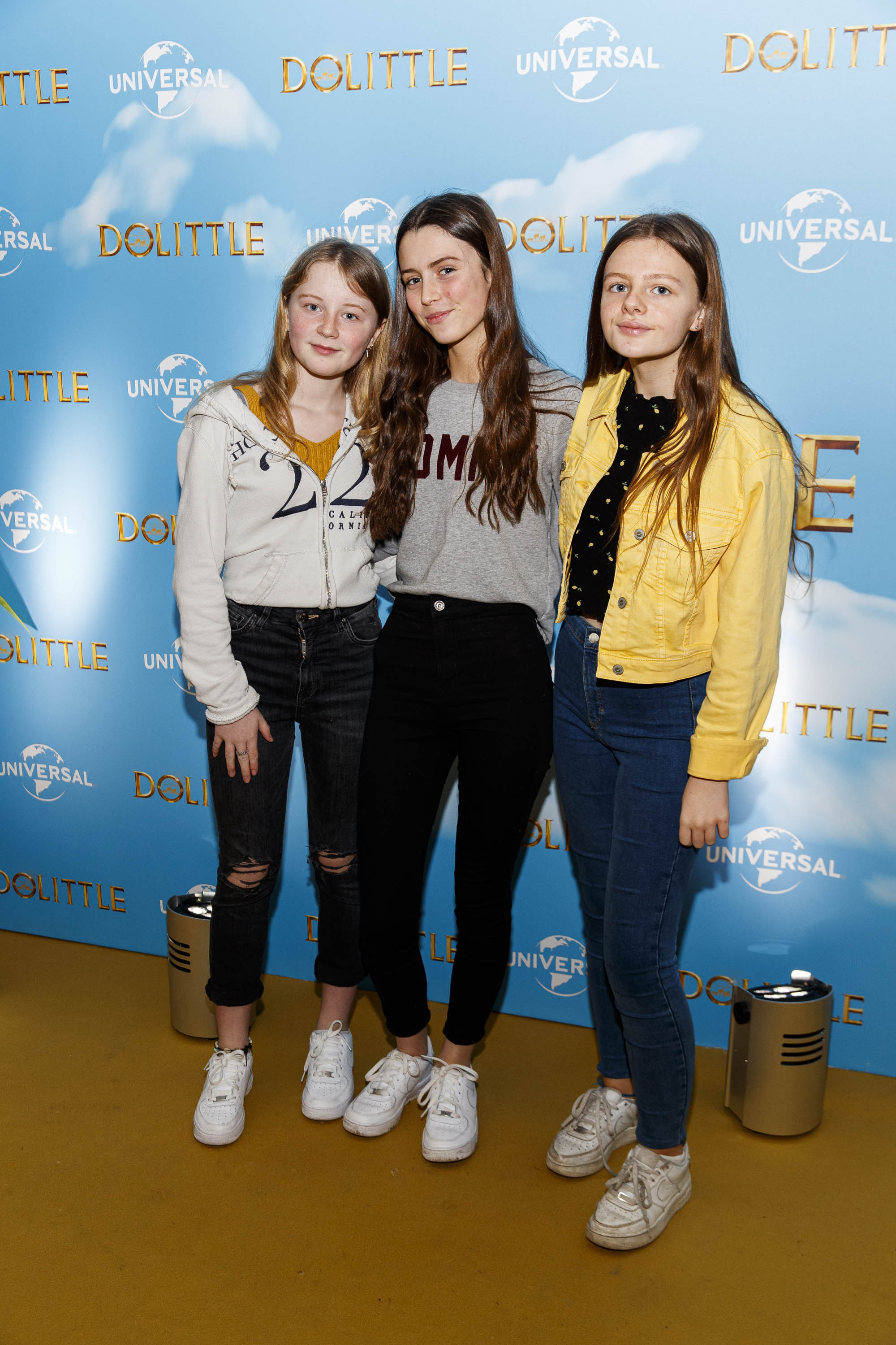 Molly Scannell, Romy Devlin, India and Carr Healy pictured at the Universal Pictures special preview screening of Dolittle at Odeon Point Square, Dublin.