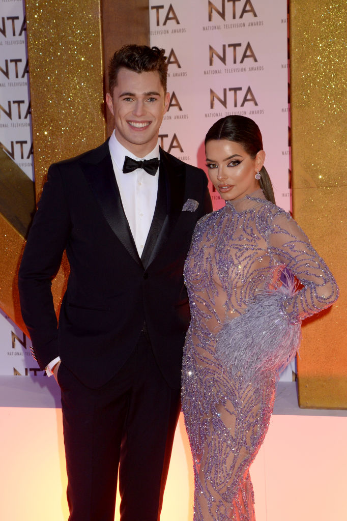 Curtis Pritchard and Maura Higgins attend the National Television Awards 2020 at The O2 Arena on January 28, 2020 in London, England. (Photo by Dave J Hogan/Getty Images)