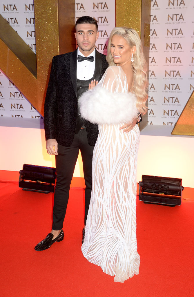 Tommy Fury and Molly-Mae Hague attend the National Television Awards 2020 at The O2 Arena on January 28, 2020 in London, England. (Photo by Dave J Hogan/Getty Images)
