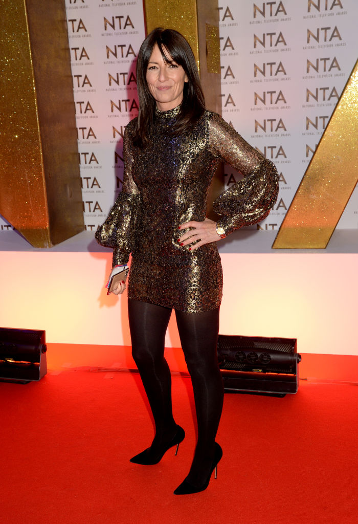 Davina McCall attends the National Television Awards 2020 at The O2 Arena on January 28, 2020 in London, England. (Photo by Dave J Hogan/Getty Images)