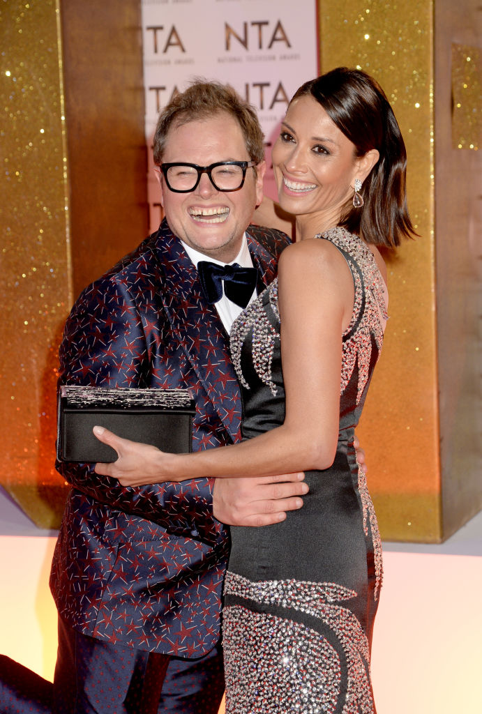 Alan Carr and Melanie Sykes attend the National Television Awards 2020 at The O2 Arena on January 28, 2020 in London, England. (Photo by Dave J Hogan/Getty Images)