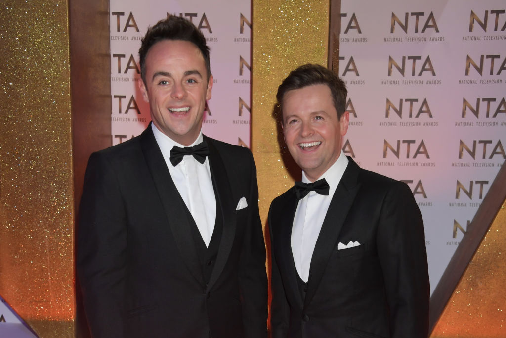 Anthony McPartlin and Declan Donnelly attend the National Television Awards 2020 at The O2 Arena on January 28, 2020 in London, England. (Photo by David M. Benett/Dave Benett/Getty Images)