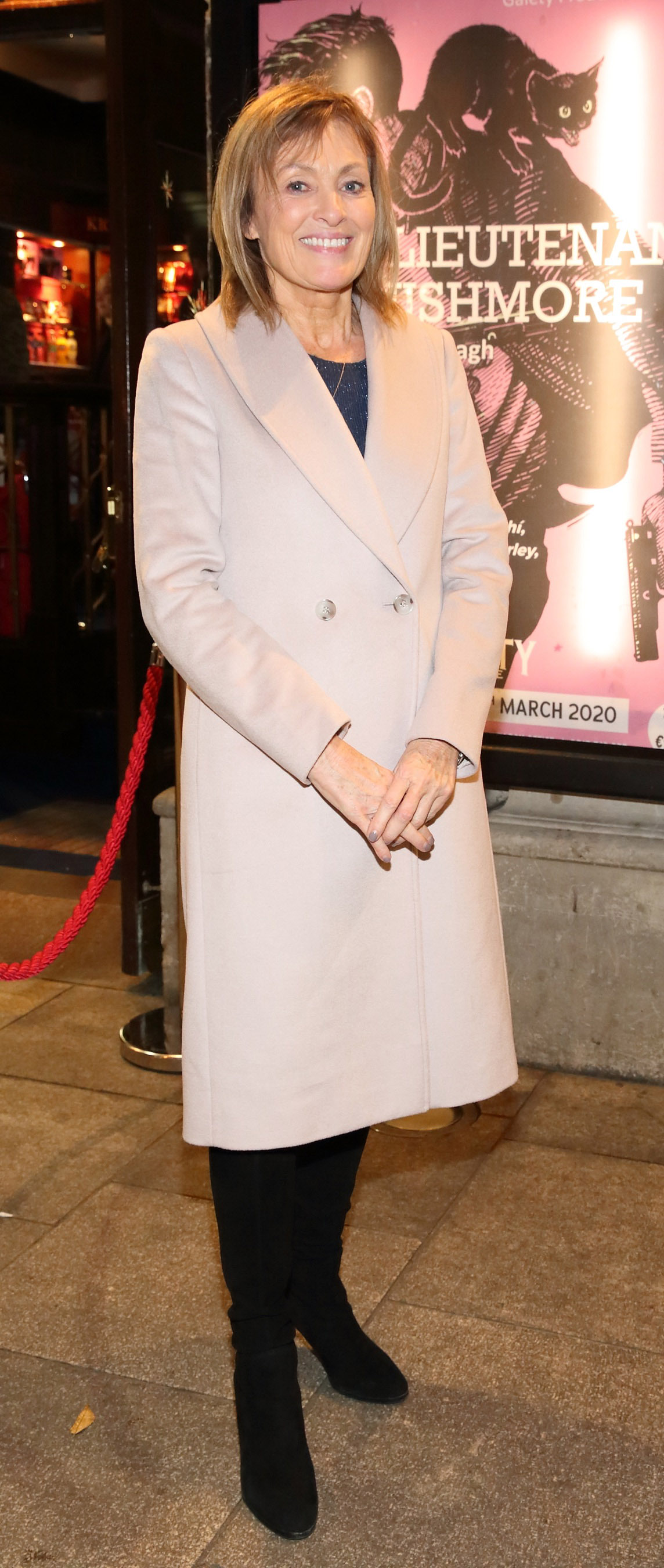 Mary Kennedy pictured at the opening of the Gaiety Theatre's major new production of Martin McDonagh's 'The Lieutenant of Inishmore', which will run at the Gaiety Theatre until 14th March.