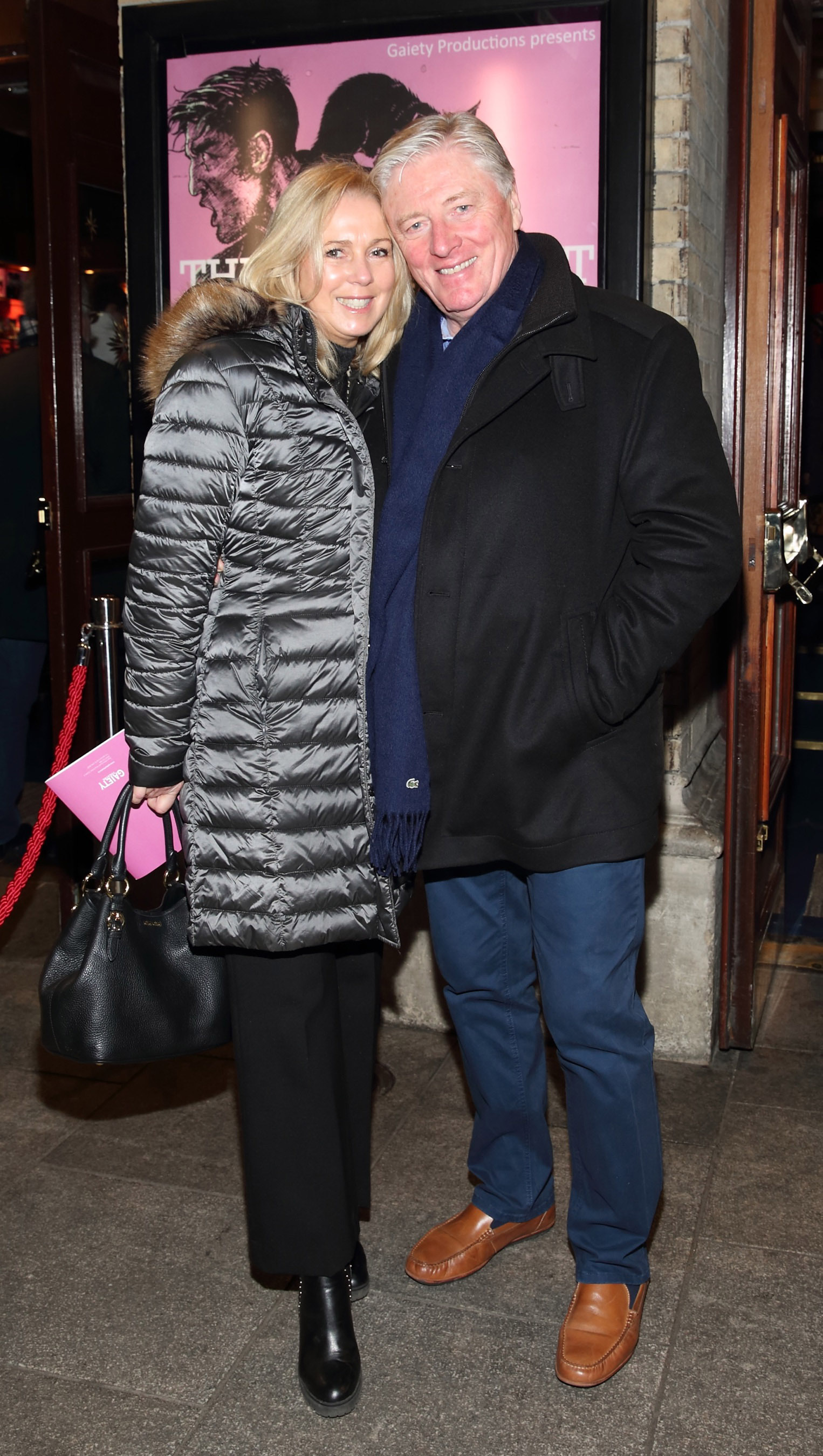 Cathy Kenny and Pat Kenny pictured at the opening of the Gaiety Theatre's major new production of Martin McDonagh's 'The Lieutenant of Inishmore', which will run at the Gaiety Theatre until 14th March.