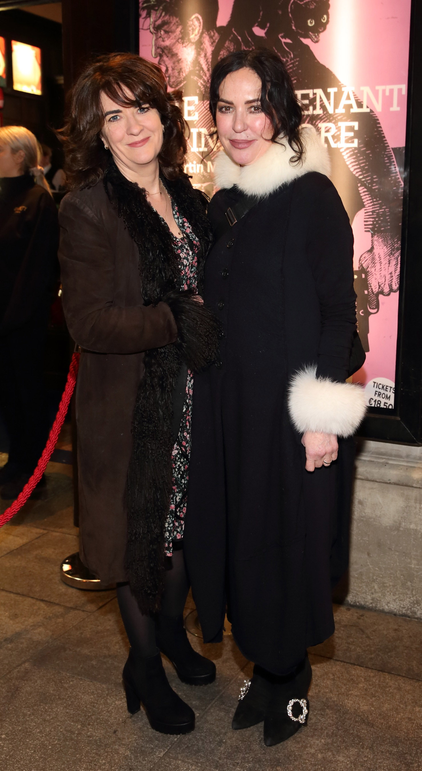 Ursula Fanning and Morah Ryan pictured at the opening of the Gaiety Theatre's major new production of Martin McDonagh's 'The Lieutenant of Inishmore', which will run at the Gaiety Theatre until 14th March.