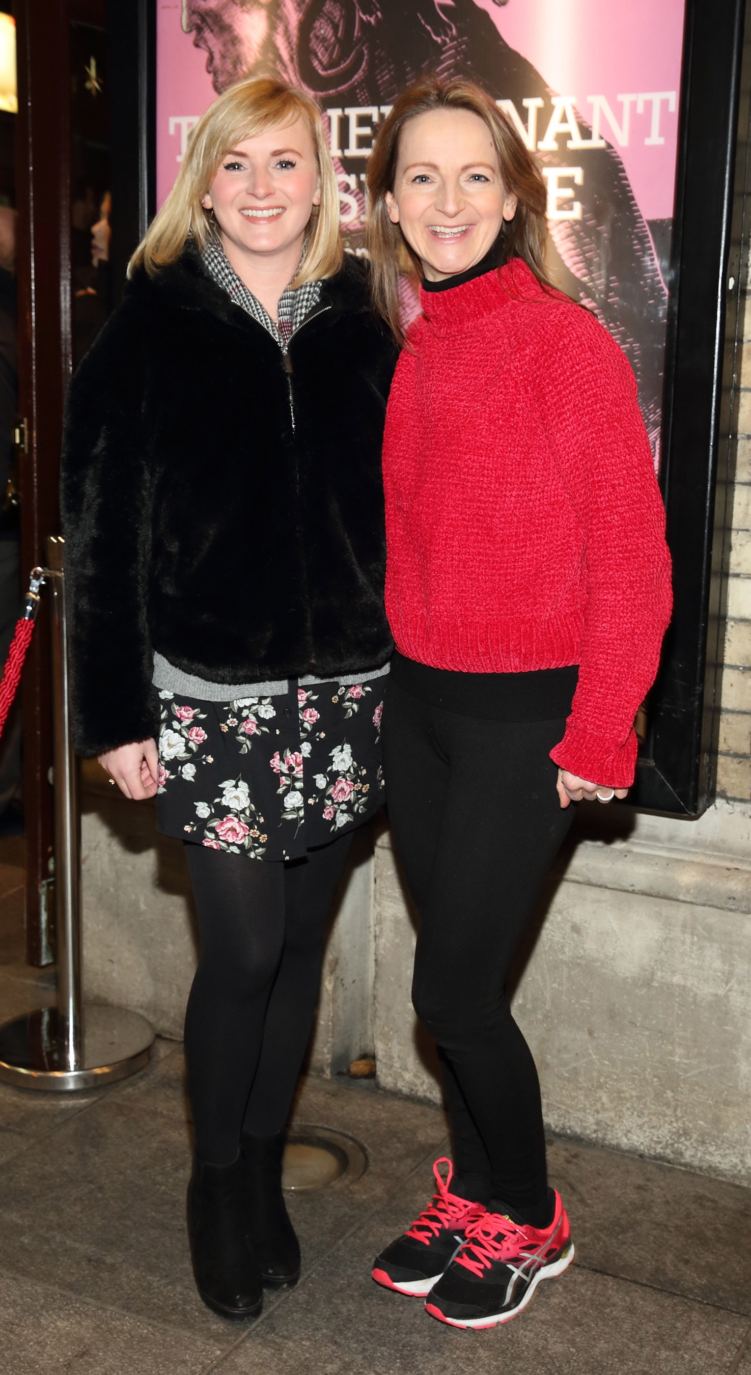 Jan-Marie Sheahan and Norma Sheahan pictured at the opening of the Gaiety Theatre's major new production of Martin McDonagh's 'The Lieutenant of Inishmore', which will run at the Gaiety Theatre until 14th March.