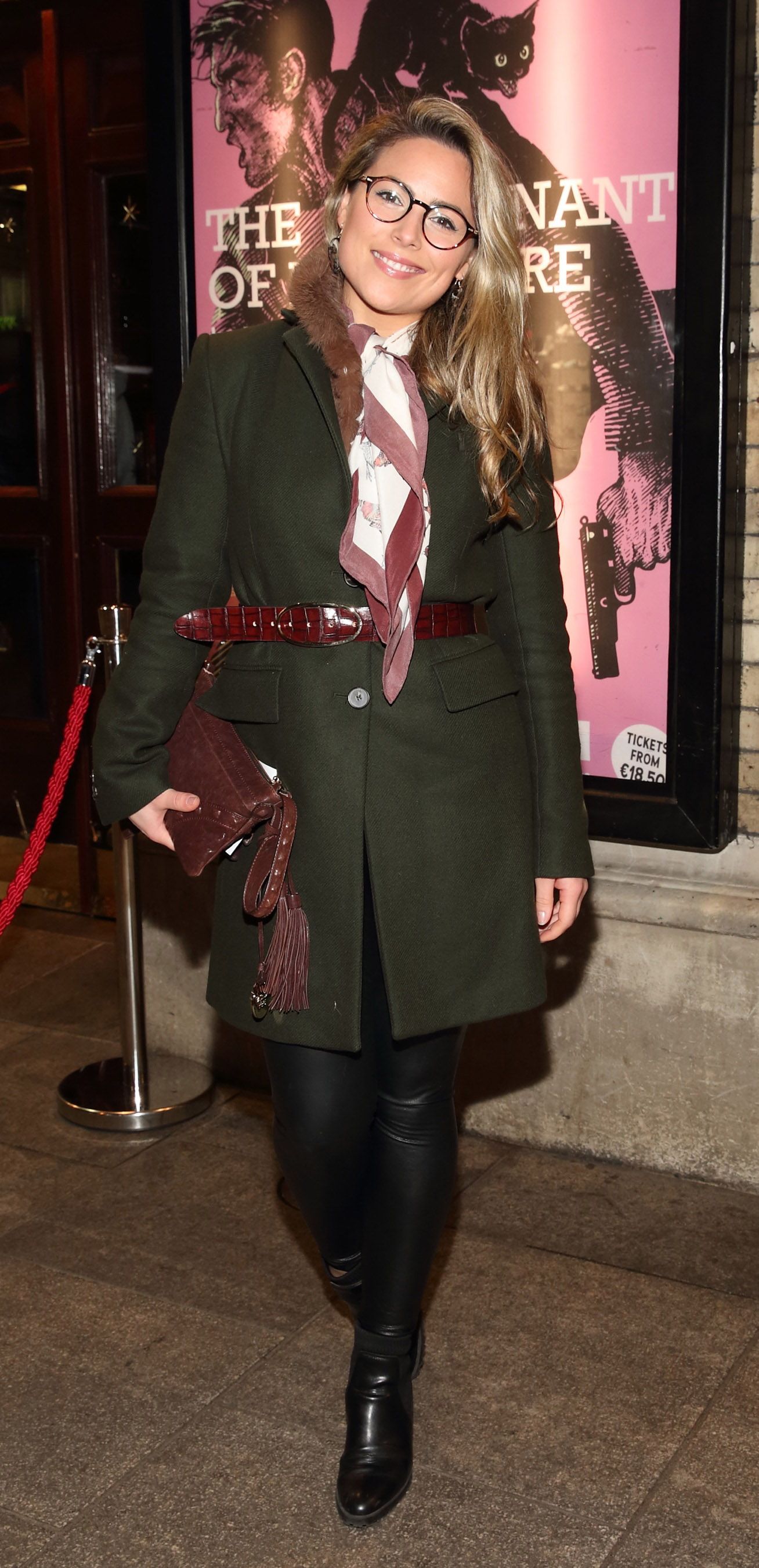 Chloe Townsend pictured at the opening of the Gaiety Theatre's major new production of Martin McDonagh's 'The Lieutenant of Inishmore', which will run at the Gaiety Theatre until 14th March.