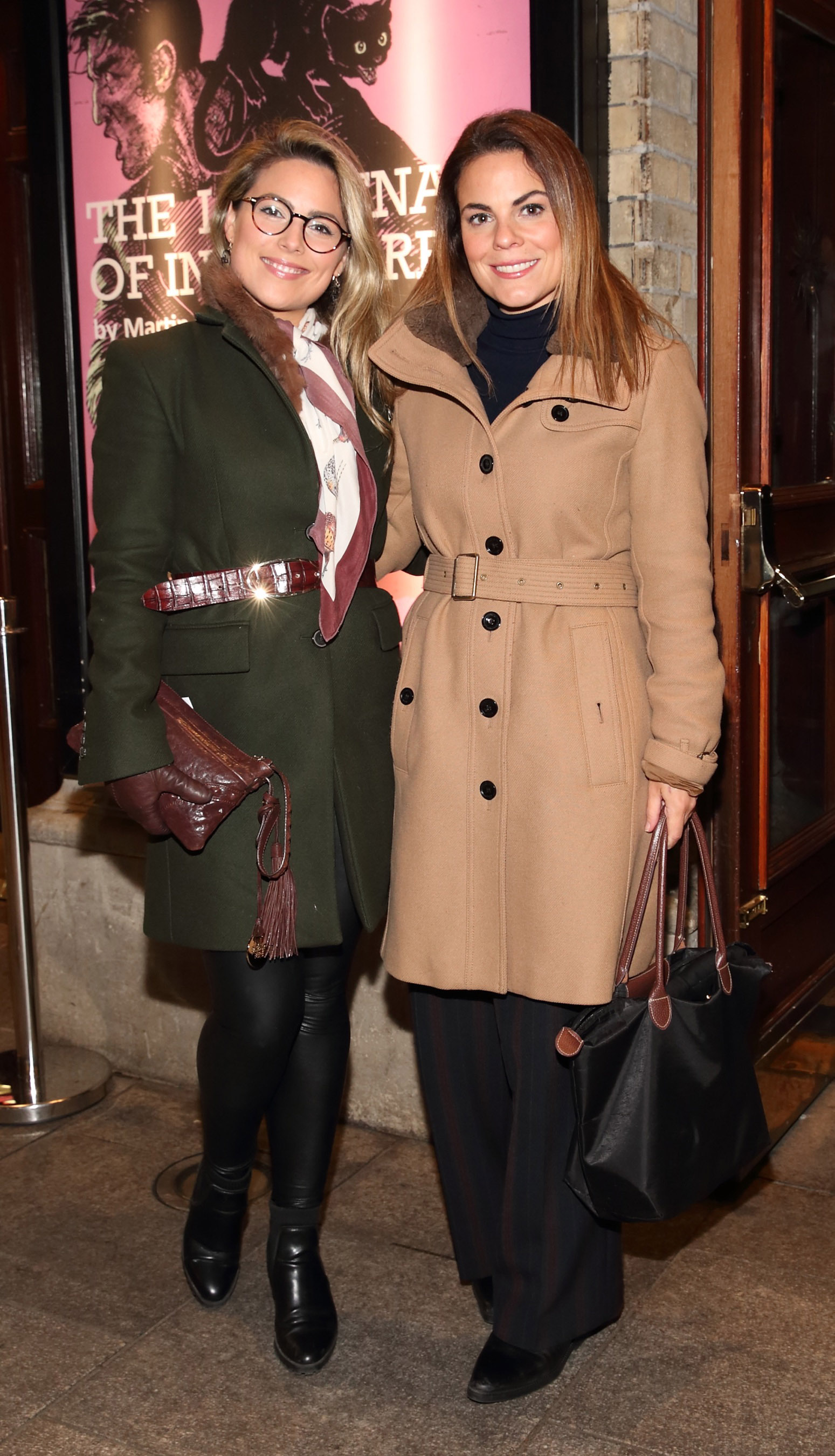 Chloe Townsend and Avila Lipsett pictured at the opening of the Gaiety Theatre's major new production of Martin McDonagh's 'The Lieutenant of Inishmore', which will run at the Gaiety Theatre until 14th March.