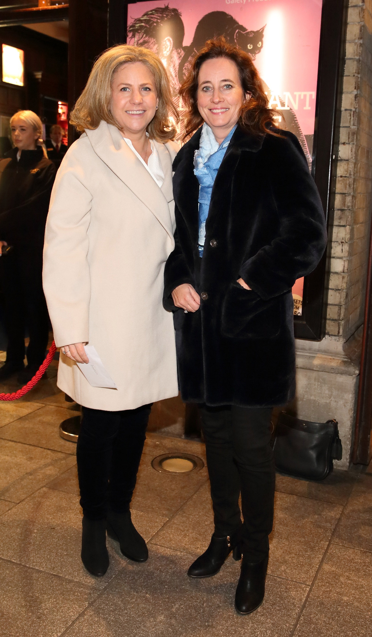 Rachel Frances and Kay Kelly pictured at the opening of the Gaiety Theatre's major new production of Martin McDonagh's 'The Lieutenant of Inishmore', which will run at the Gaiety Theatre until 14th March.