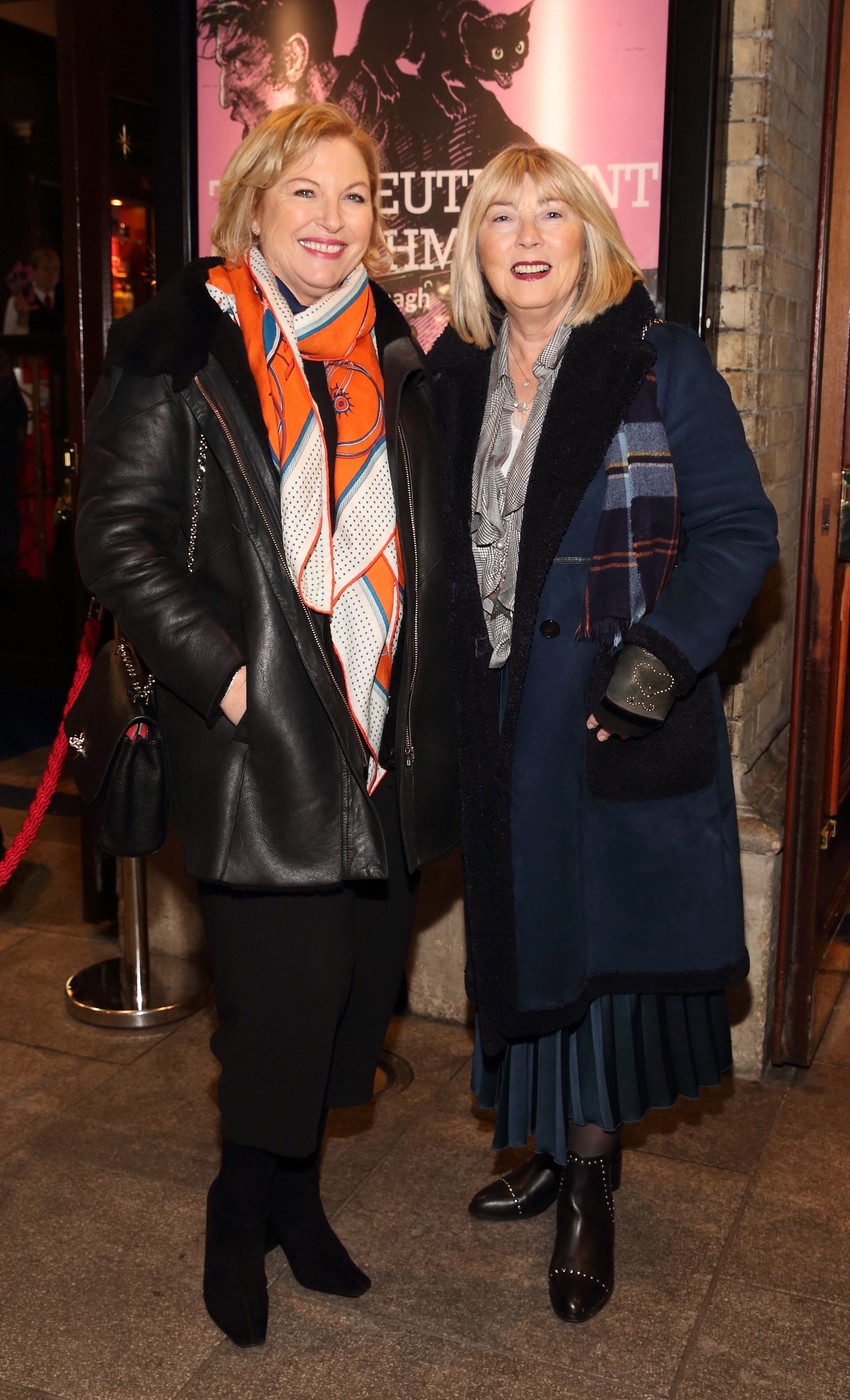 Liz O'Donnell and Mary Ainscough pictured at the opening of the Gaiety Theatre's major new production of Martin McDonagh's 'The Lieutenant of Inishmore', which will run at the Gaiety Theatre until 14th March.