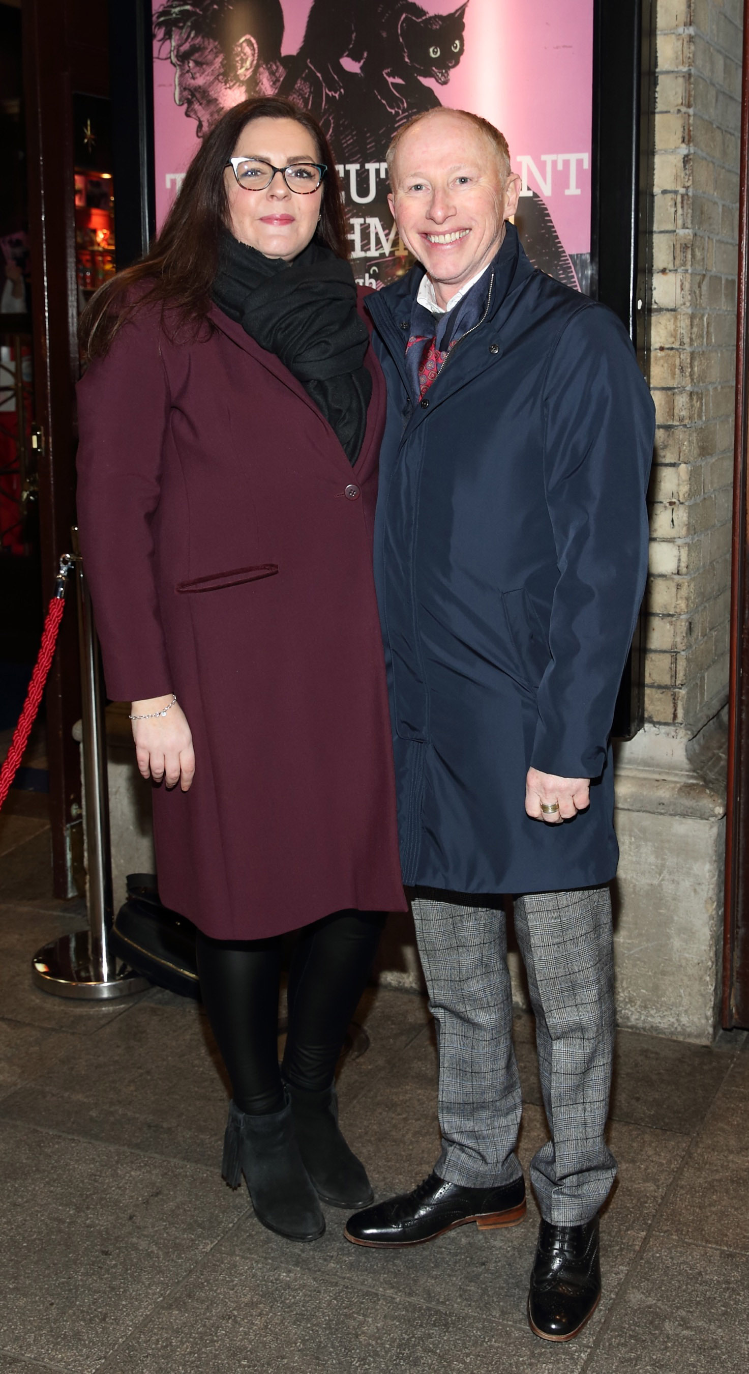 Gemma Cullen and Joe Conlan pictured at the opening of the Gaiety Theatre's major new production of Martin McDonagh's 'The Lieutenant of Inishmore', which will run at the Gaiety Theatre until 14th March.