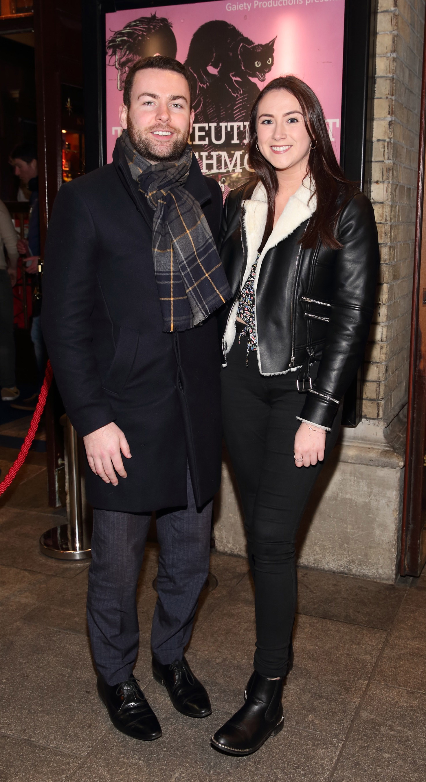 Jack Quinn and Johanna O'Dowd pictured at the opening of the Gaiety Theatre's major new production of Martin McDonagh's 'The Lieutenant of Inishmore', which will run at the Gaiety Theatre until 14th March.