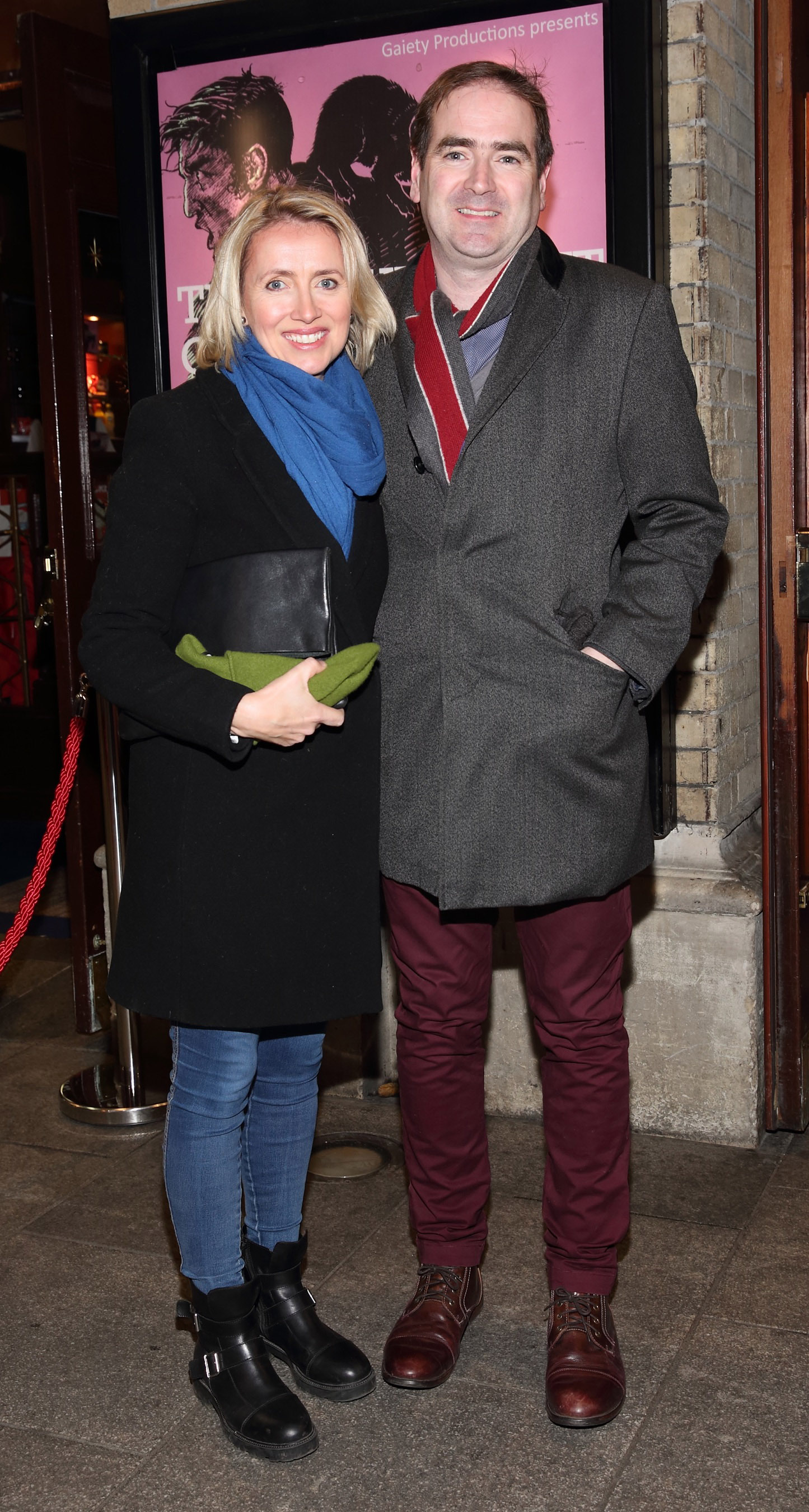 Suzanne Leyden and Neil Leyden pictured at the opening of the Gaiety Theatre's major new production of Martin McDonagh's 'The Lieutenant of Inishmore', which will run at the Gaiety Theatre until 14th March.