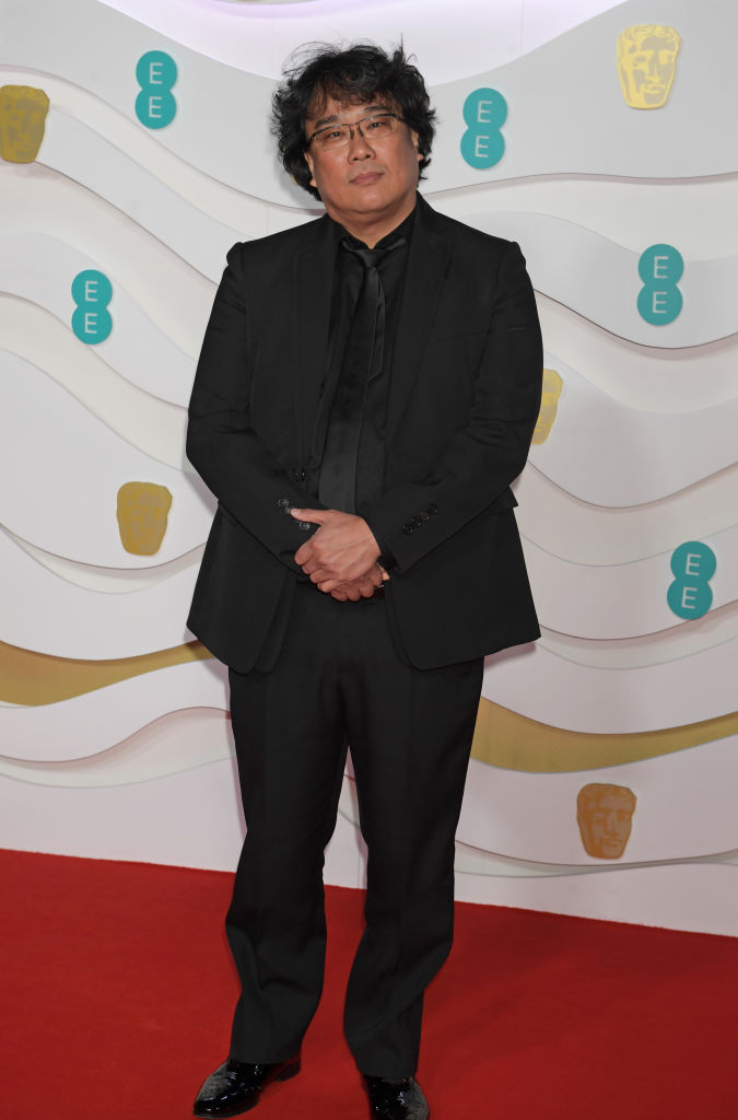 Bong Joon-ho arrives at the EE British Academy Film Awards 2020 at Royal Albert Hall on February 2, 2020 in London, England. (Photo by David M. Benett/Dave Benett/Getty Images)