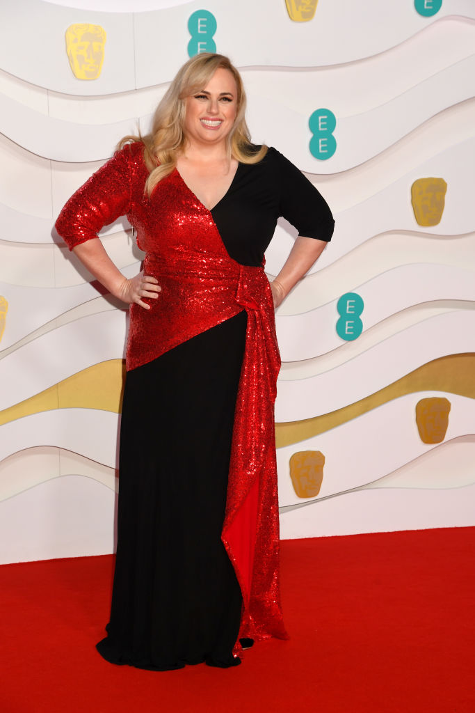 Rebel Wilson attends the EE British Academy Film Awards 2020 at Royal Albert Hall on February 02, 2020 in London, England. (Photo by Dave J Hogan/Getty Images)