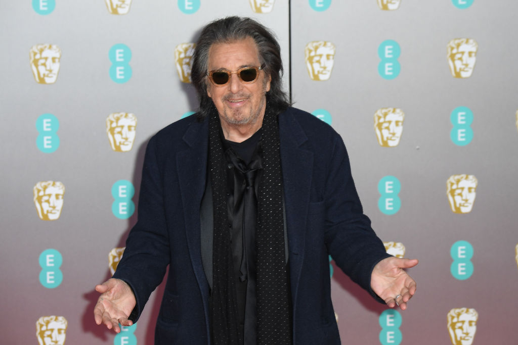 Al Pacino attends the EE British Academy Film Awards 2020 at Royal Albert Hall on February 02, 2020 in London, England. (Photo by Stephane Cardinale - Corbis/Corbis via Getty Images)