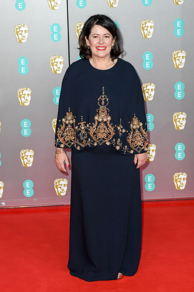 Pippa Harris attends the EE British Academy Film Awards 2020 at Royal Albert Hall on February 02, 2020 in London, England. (Photo by Stephane Cardinale - Corbis/Corbis via Getty Images)
