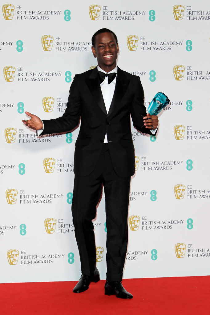 Micheal Ward, winner of the EE Rising Star award, poses in the Winners Room at the EE British Academy Film Awards 2020 at Royal Albert Hall on February 2, 2020 in London, England. (Photo by David M. Benett/Dave Benett/Getty Images)