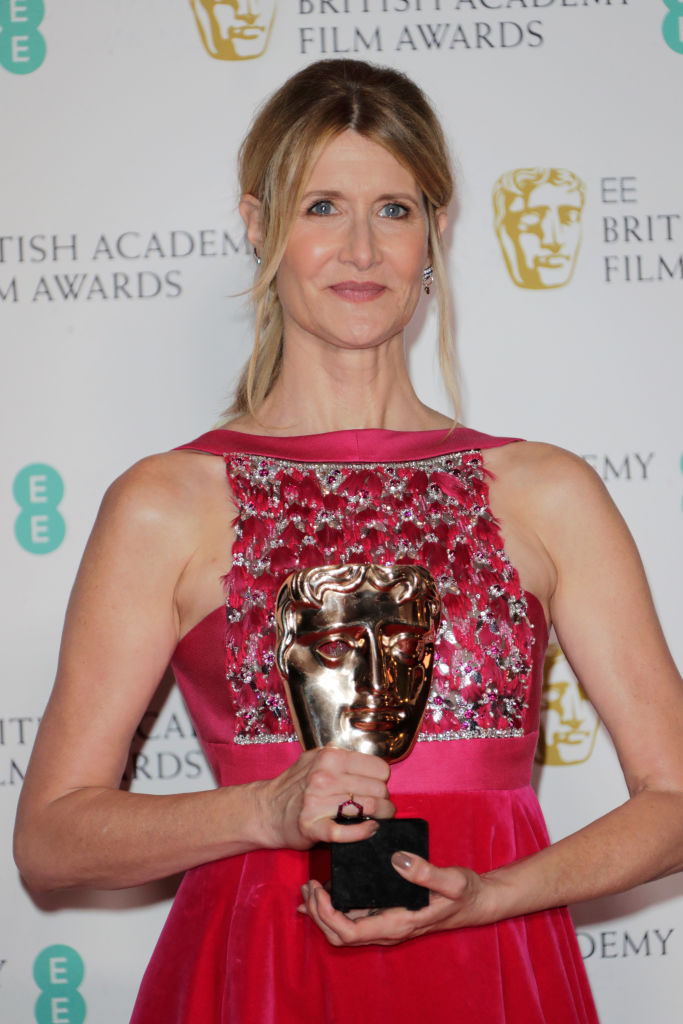 "Laura Dern, winner of Best Supporting Actress for ""Marriage Story"", poses in the Winners Room at the EE British Academy Film Awards 2020 at Royal Albert Hall on February 2, 2020 in London, England. (Photo by David M. Benett/Dave Benett/Getty Images)"