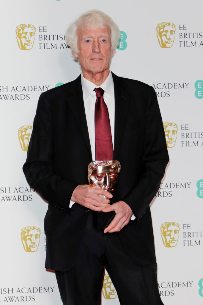 "Roger Deakins, winner of the Best Cinematography award for ""1917"", poses in the Winners Room at the EE British Academy Film Awards 2020 at Royal Albert Hall on February 2, 2020 in London, England. (Photo by David M. Benett/Dave Benett/Getty Images)"