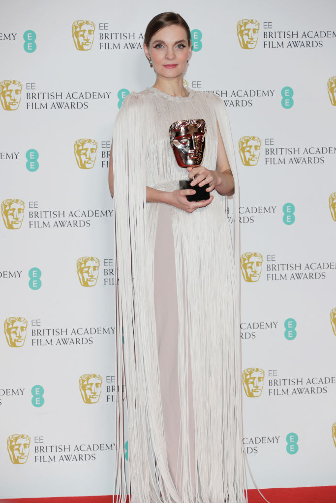 Hildur Guonadottir poses in the Winners Room at the EE British Academy Film Awards 2020 at Royal Albert Hall on February 2, 2020 in London, England. (Photo by David M. Benett/Dave Benett/Getty Images)
