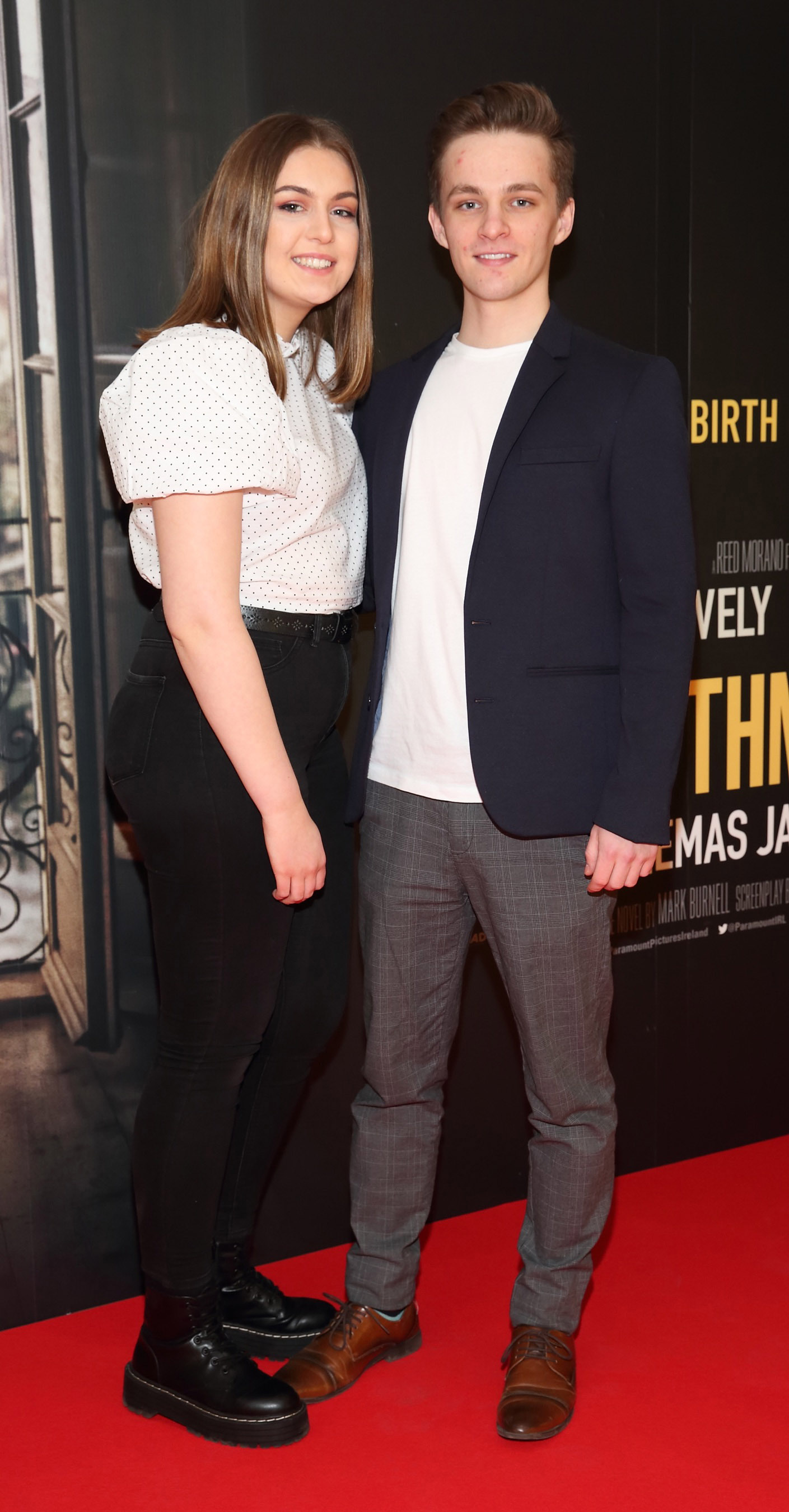 Laragh Molloy and David Duggan pictured at the special preview screening of The Rhythm Section at the Light House Cinema, Dublin. Pic: Brian McEvoy Photography
