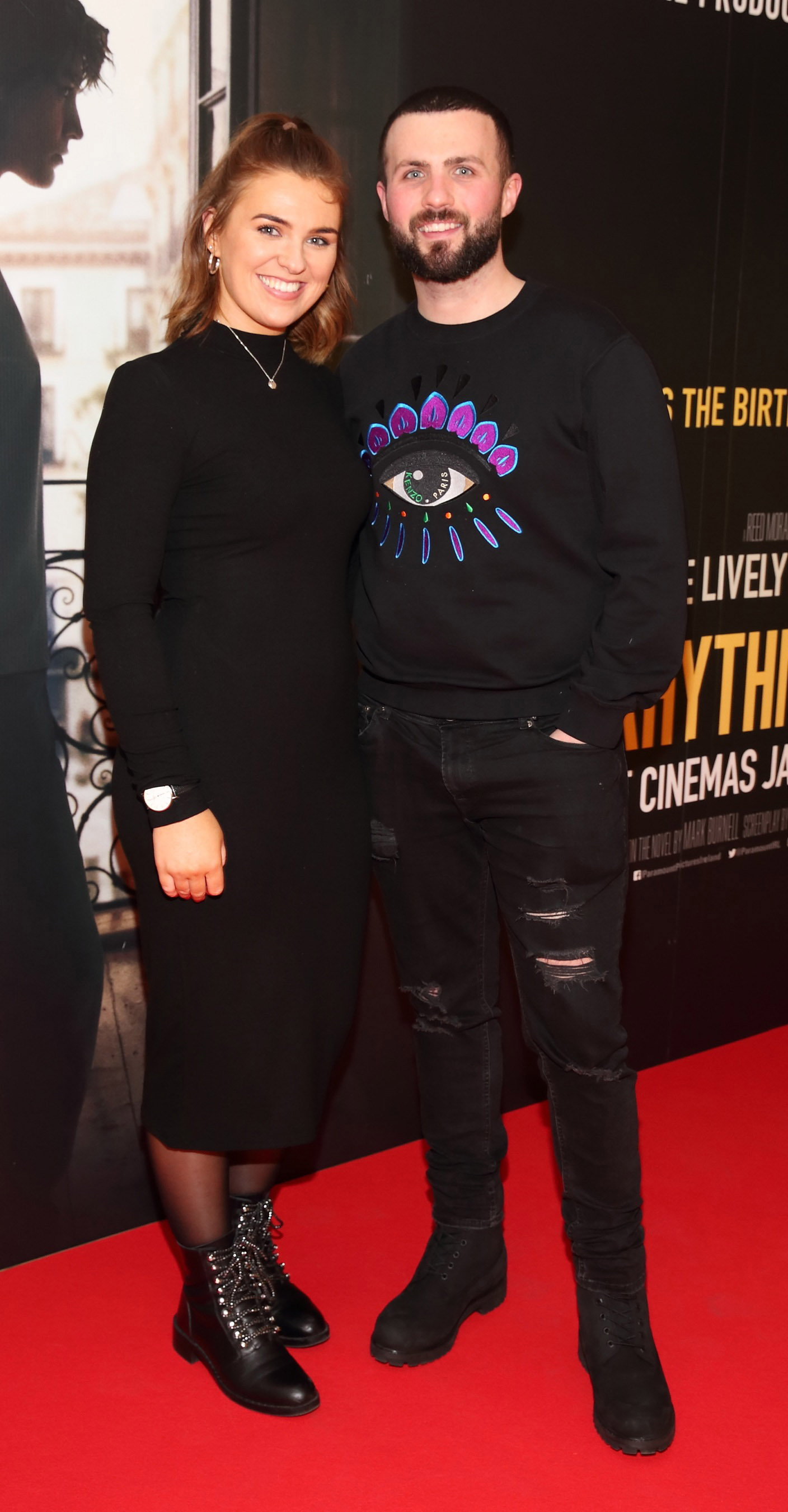 Tara Keenan and Luke Lawless pictured at the special preview screening of The Rhythm Section at the Light House Cinema, Dublin. Pic: Brian McEvoy Photography