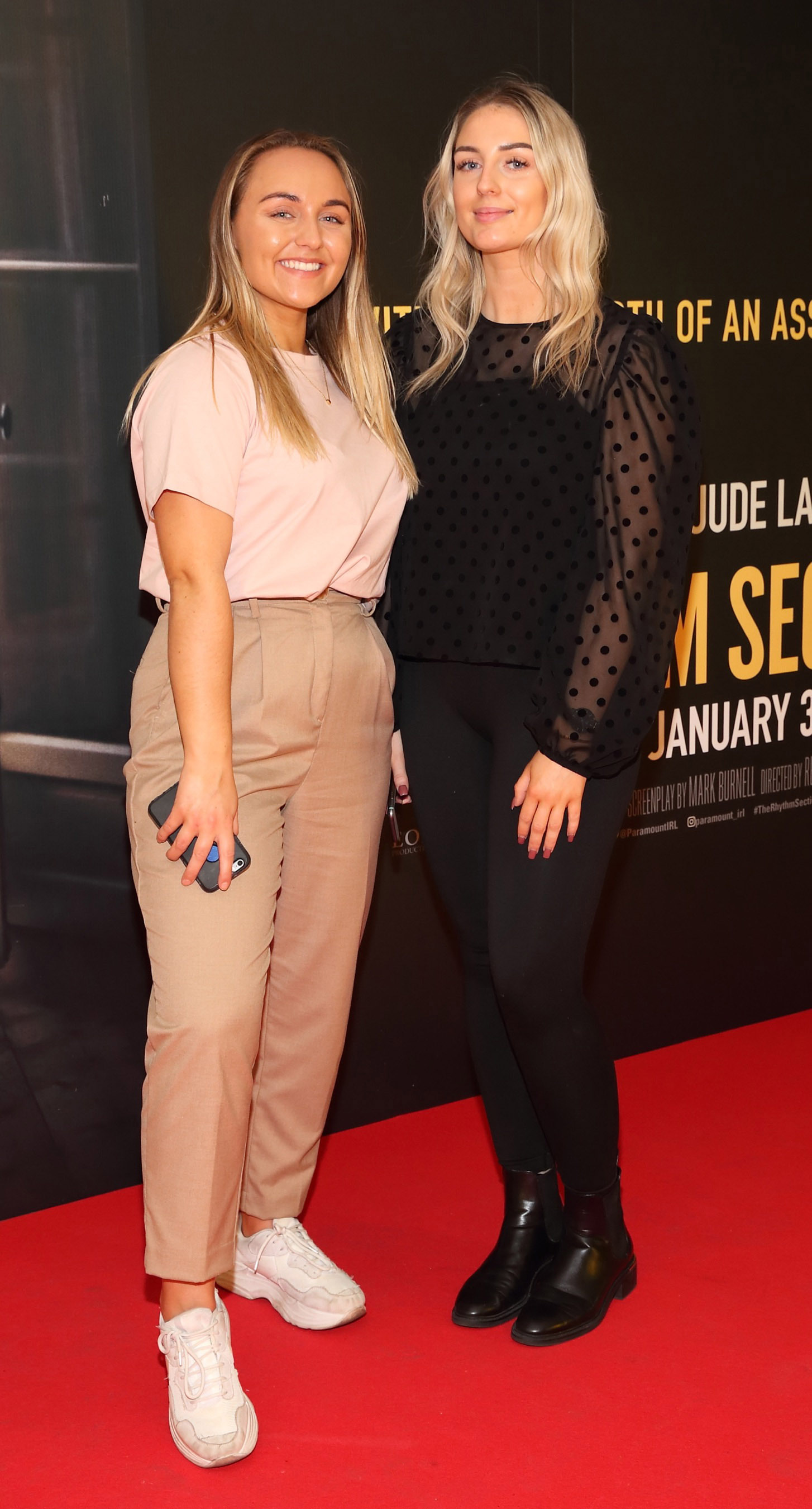 Derbhla Keogh and Mairead Ryan pictured at the special preview screening of The Rhythm Section at the Light House Cinema, Dublin. Pic: Brian McEvoy Photography