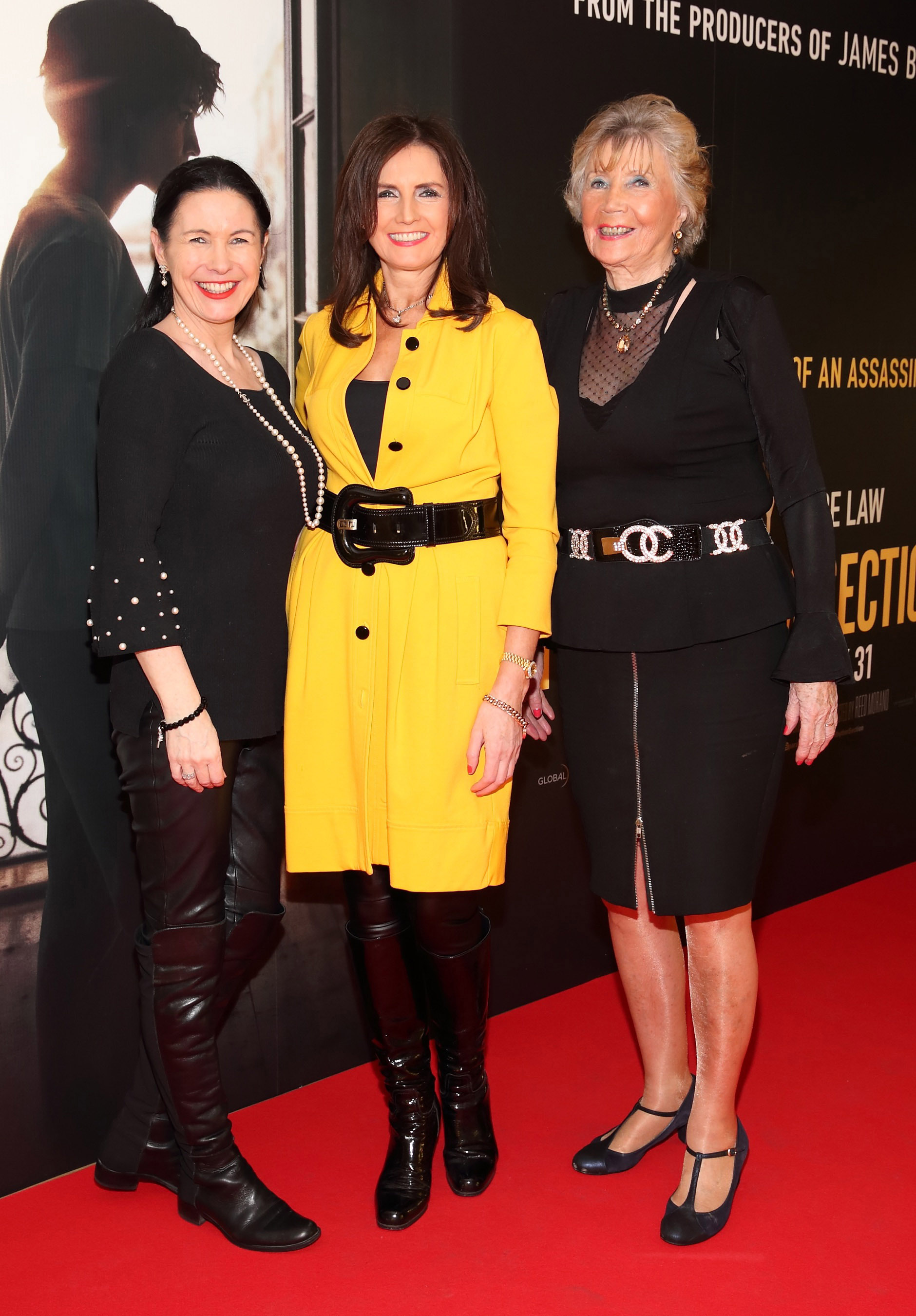Suzy Bruton, Caroline O'Connell and Carmel O'Connell  pictured at the special preview screening of The Rhythm Section at the Light House Cinema, Dublin. Pic: Brian McEvoy Photography