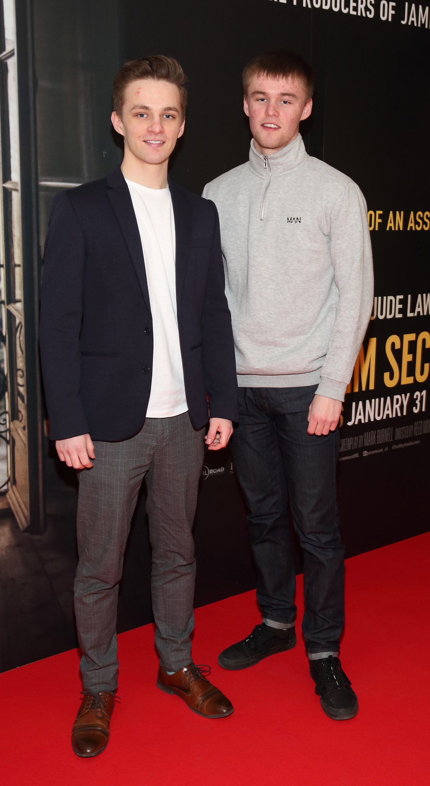 David Duggan and Conor Duggan pictured at the special preview screening of The Rhythm Section at the Light House Cinema, Dublin. Pic: Brian McEvoy Photography