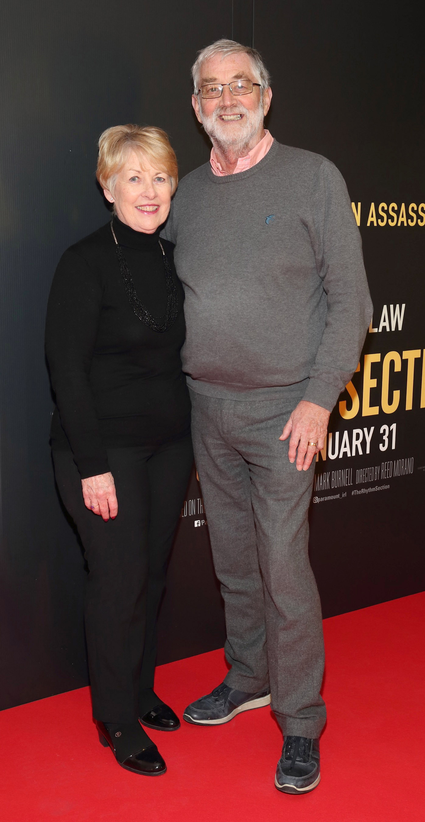 Anne McKay and Noel McKay pictured at the special preview screening of The Rhythm Section at the Light House Cinema, Dublin. Pic: Brian McEvoy Photography
