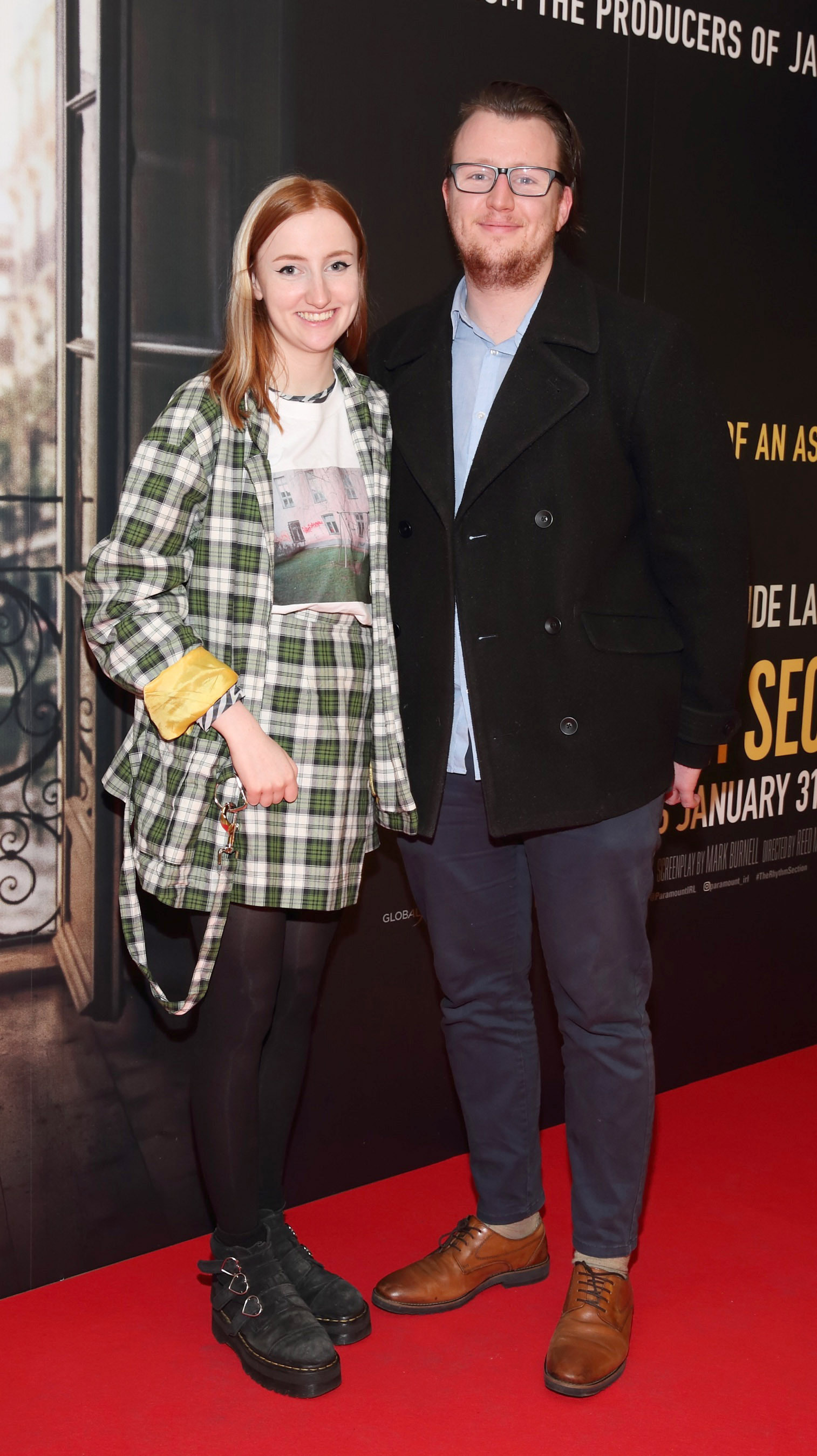 Siofra Carlin and Barra Carlin pictured at the special preview screening of The Rhythm Section at the Light House Cinema, Dublin. Pic: Brian McEvoy Photography