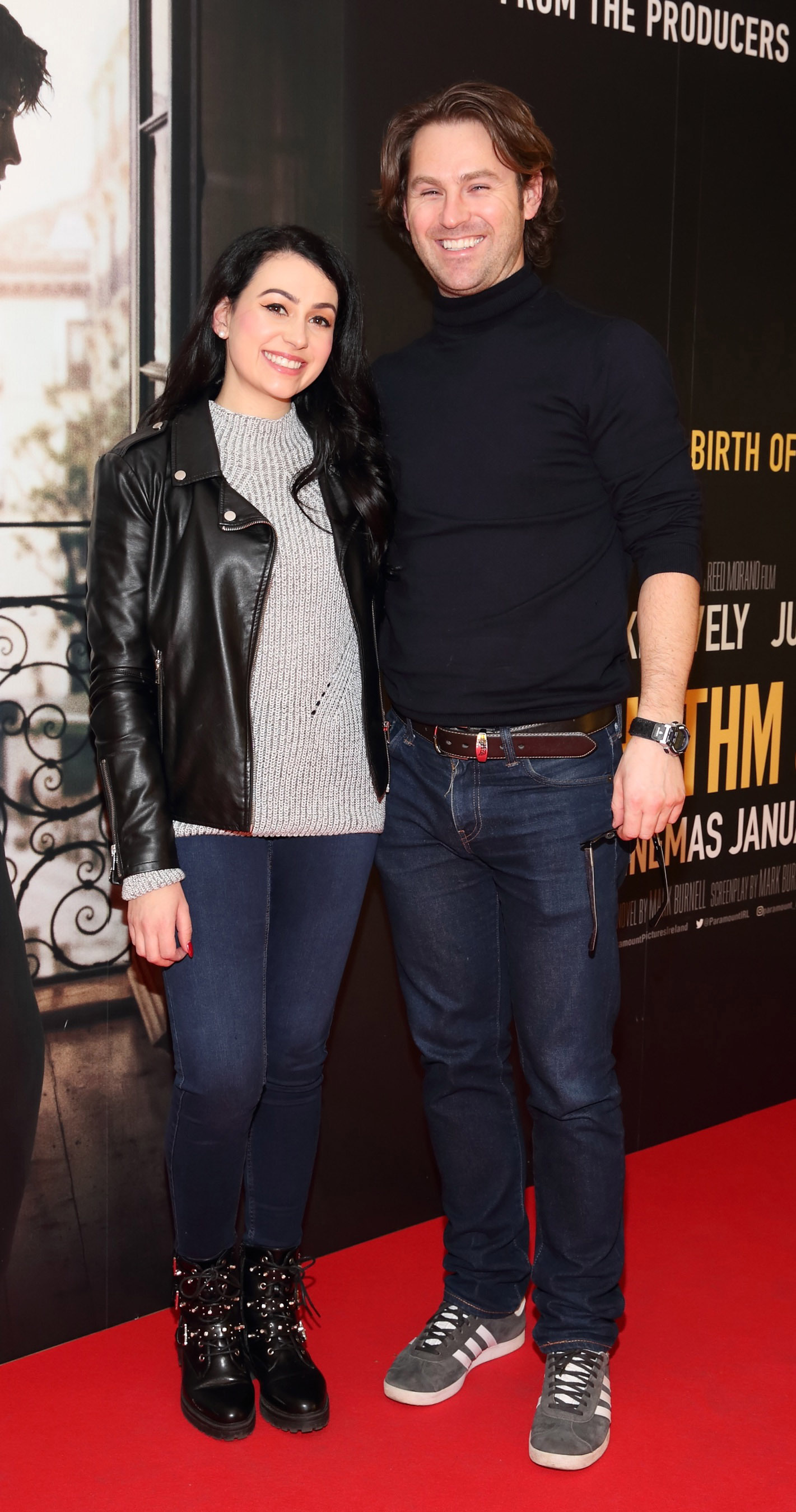 Amie Doyle and Adam Burke pictured at the special preview screening of The Rhythm Section at the Light House Cinema, Dublin. Pic: Brian McEvoy Photography