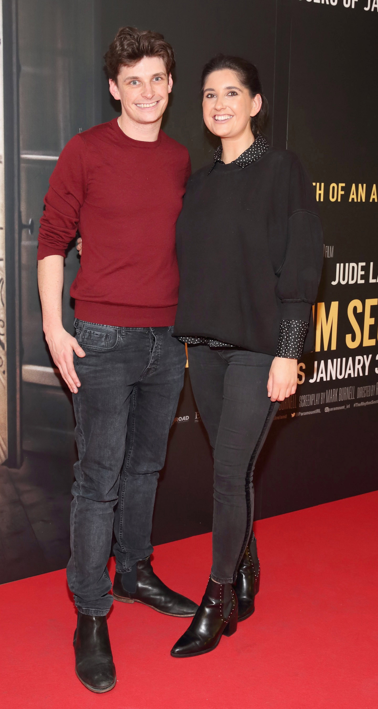 Aran Meaney and Hannah Meaney pictured at the special preview screening of The Rhythm Section at the Light House Cinema, Dublin. Pic: Brian McEvoy Photography