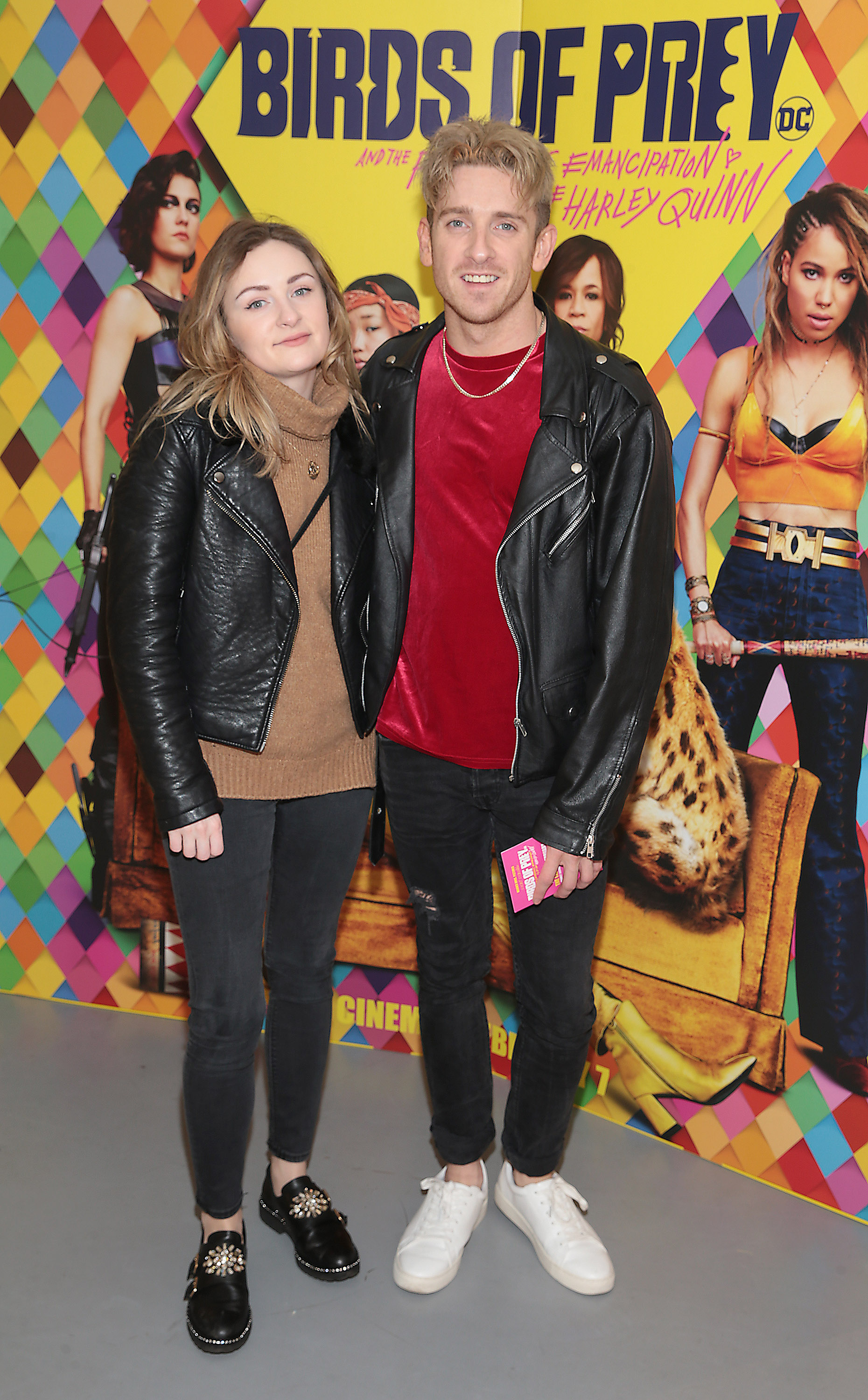 Clara De Brun and Stephen Byrne at the special preview screening of Birds of Prey at the Lighthouse Cinema, Dublin. Pic: Brian McEvoy