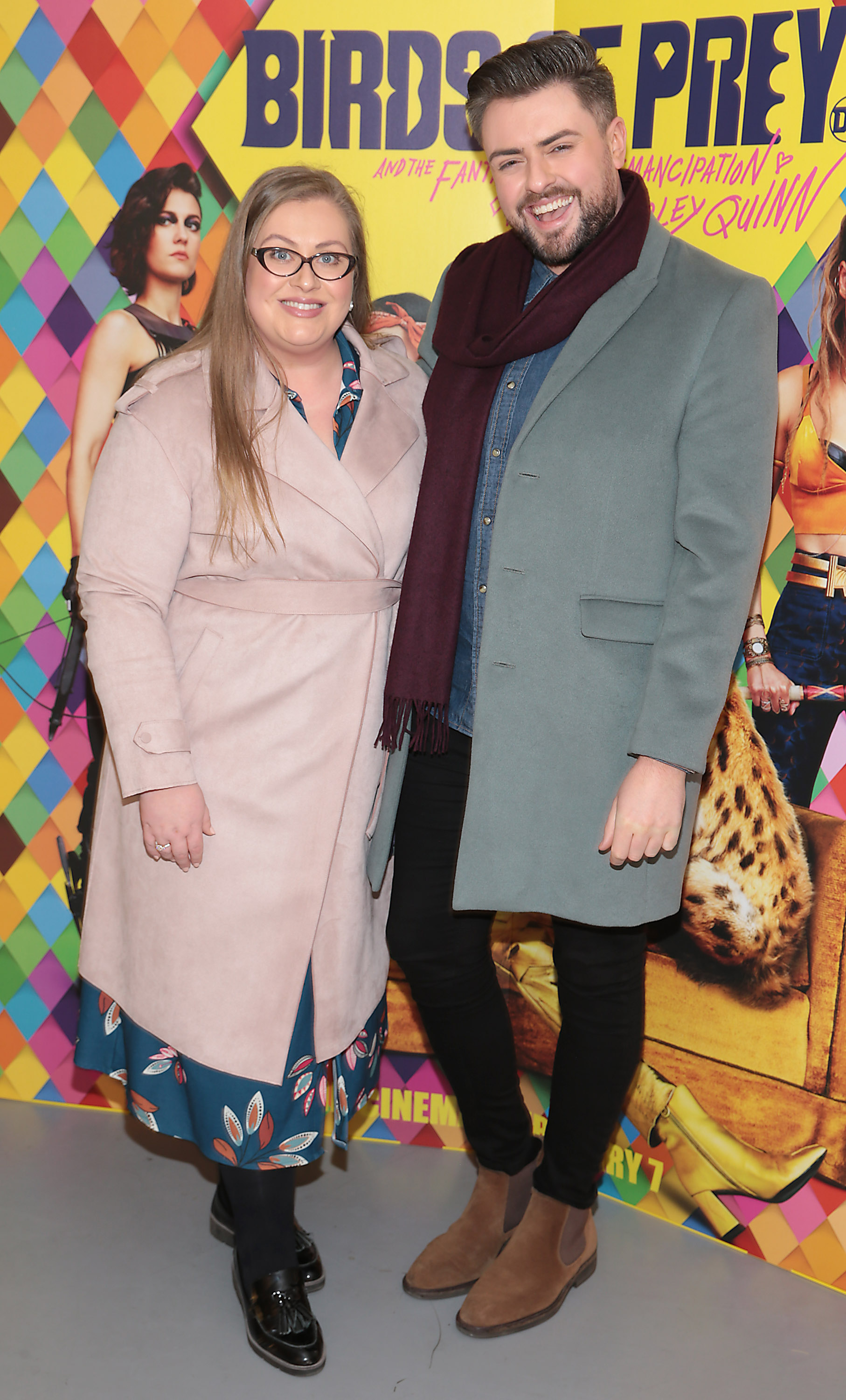 Vanessa Butler and James Butler at the special preview screening of Birds of Prey at the Lighthouse Cinema, Dublin. Pic: Brian McEvoy