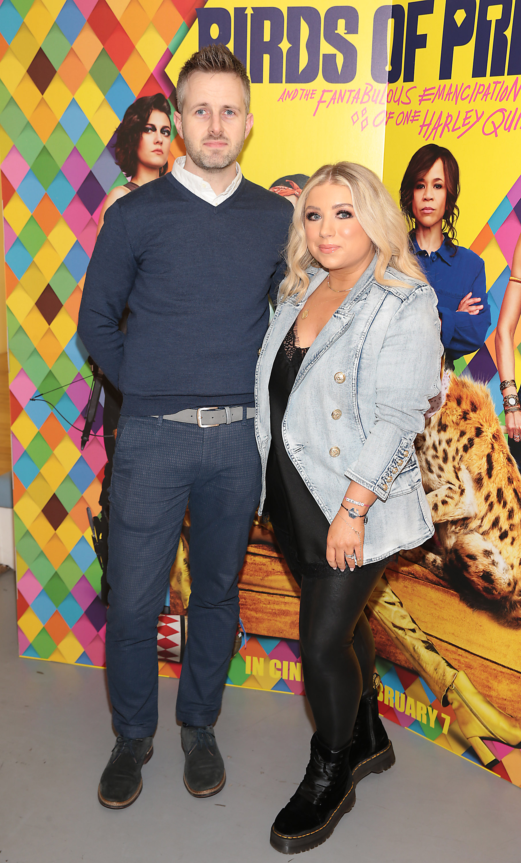 David Conneely and Danielle McCrossan at the special preview screening of Birds of Prey at the Lighthouse Cinema, Dublin. Pic: Brian McEvoy