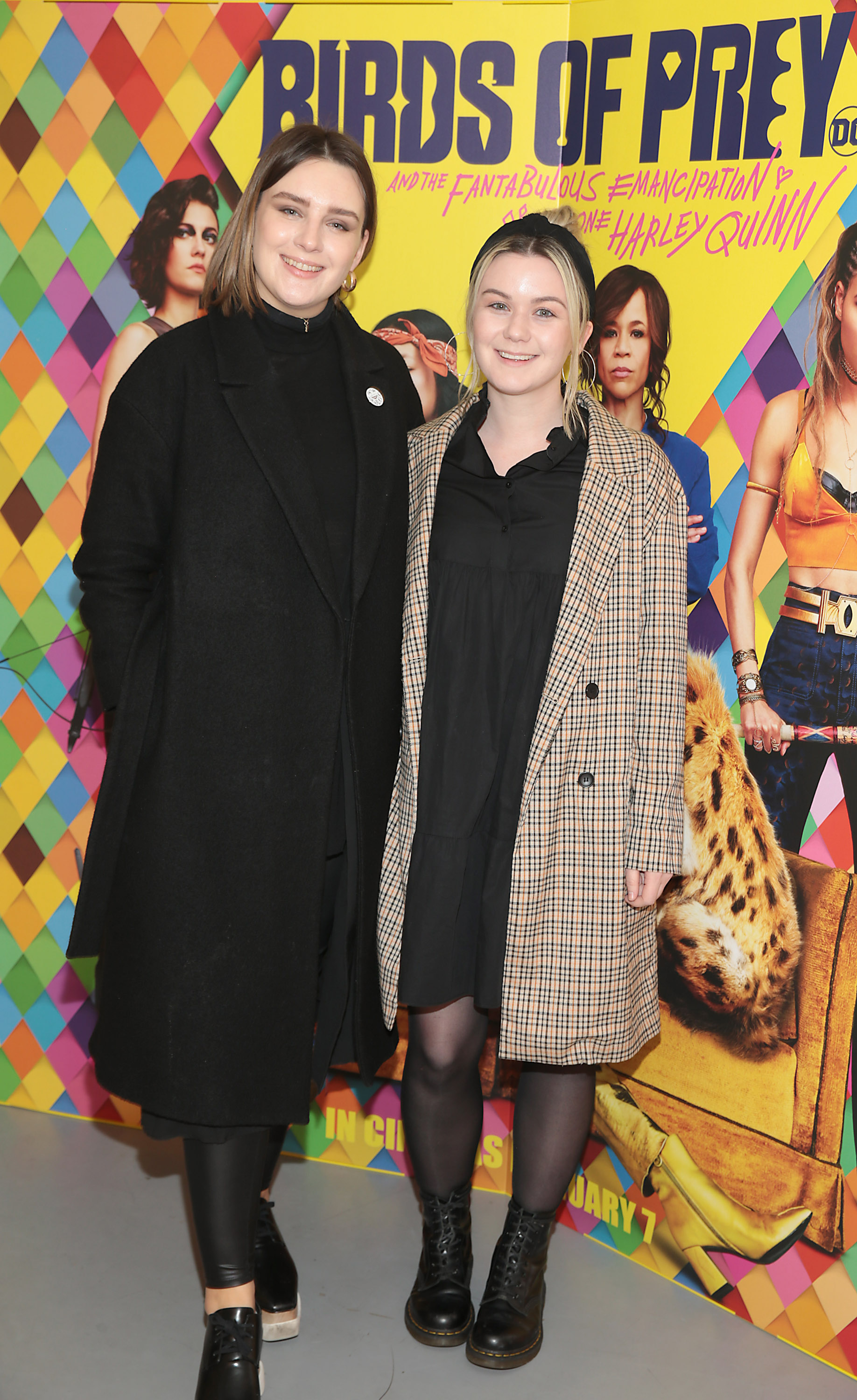 Hannah Hillyer and Anne Marie Kelly at the special preview screening of Birds of Prey at the Lighthouse Cinema, Dublin. Pic: Brian McEvoy