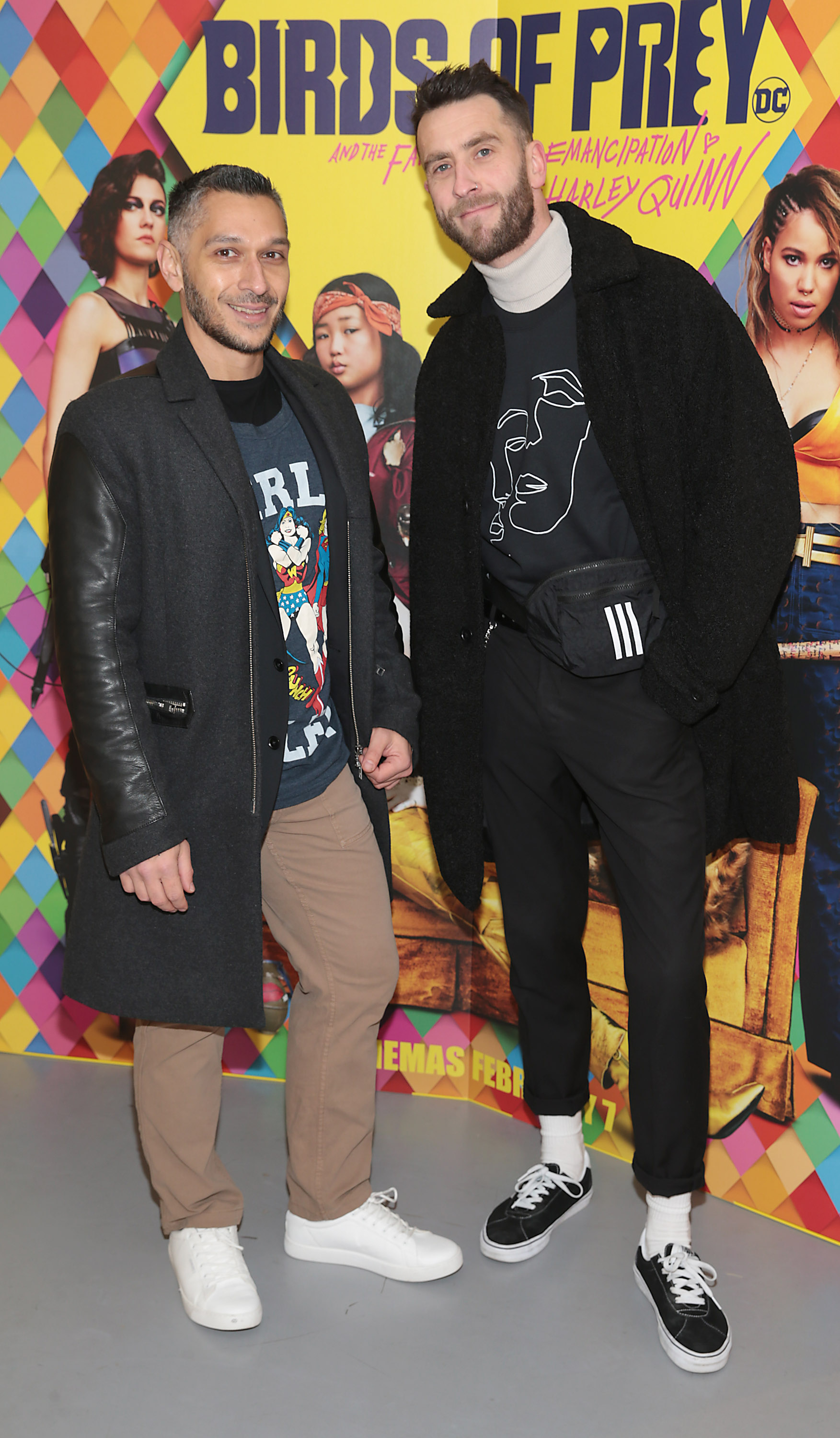 James Zahman and Ian Banham at the special preview screening of Birds of Prey at the Lighthouse Cinema, Dublin. Pic: Brian McEvoy