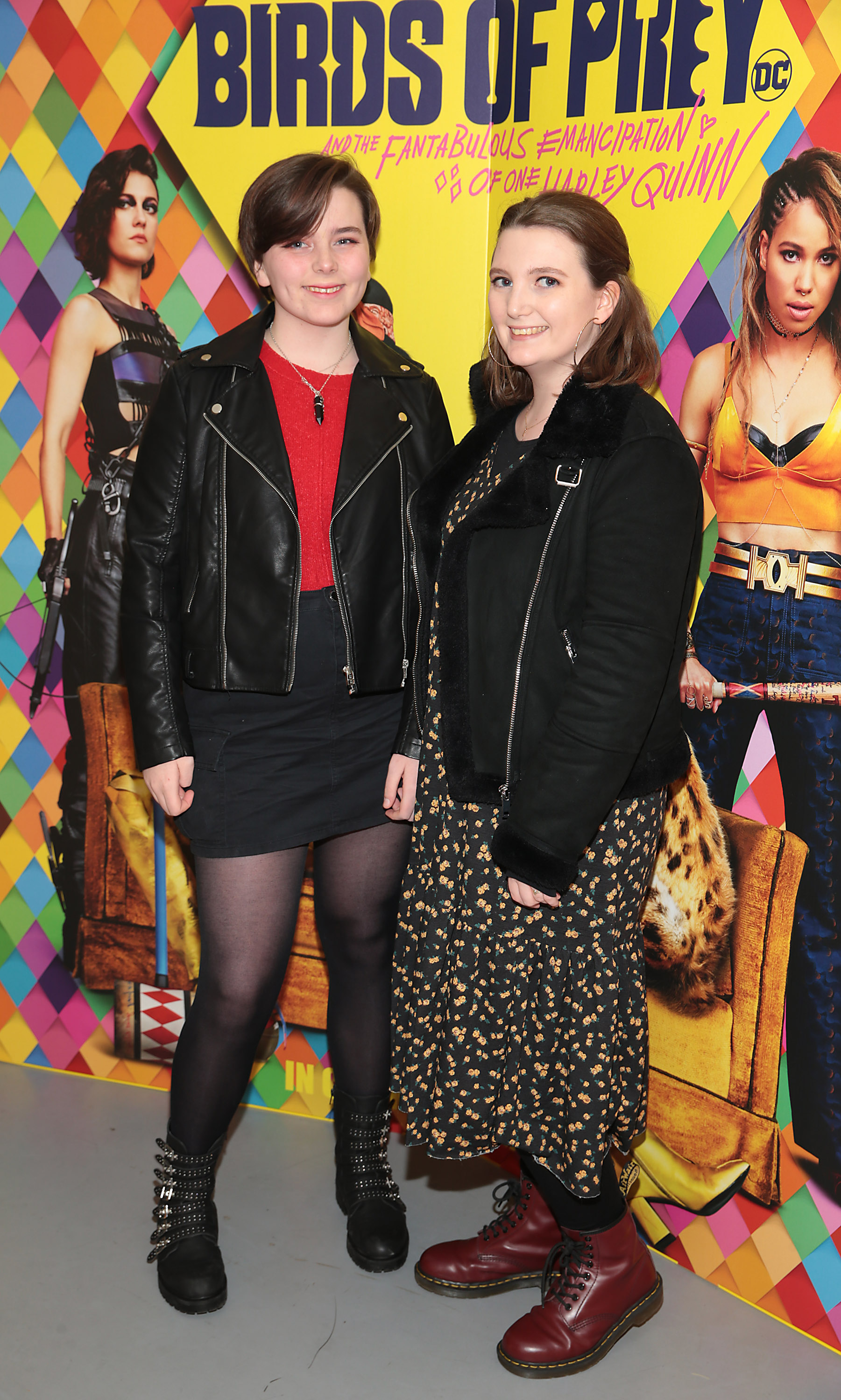 Robyn Casey and Leah Casey at the special preview screening of Birds of Prey at the Lighthouse Cinema, Dublin. Pic: Brian McEvoy