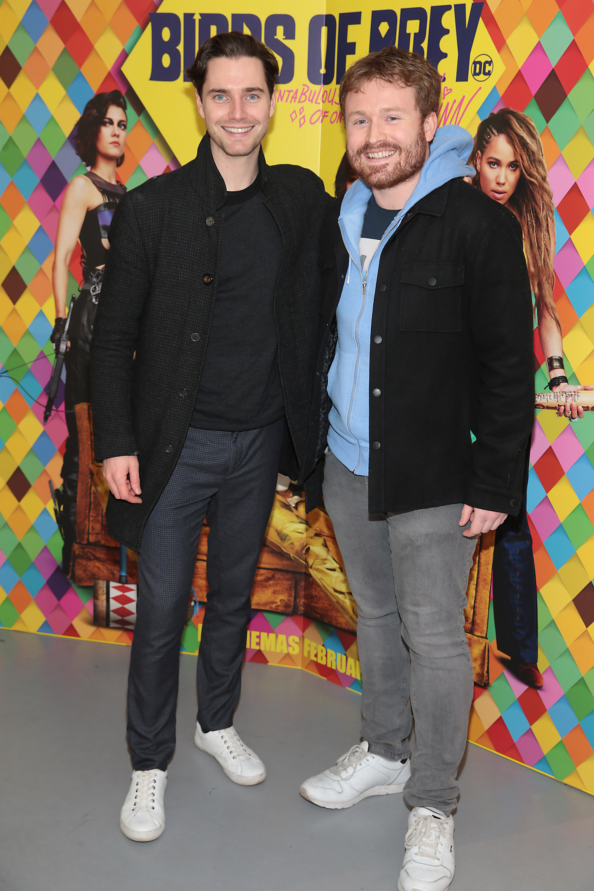 Barry Donohue and Kieran Bell at the special preview screening of Birds of Prey at the Lighthouse Cinema, Dublin. Pic: Brian McEvoy