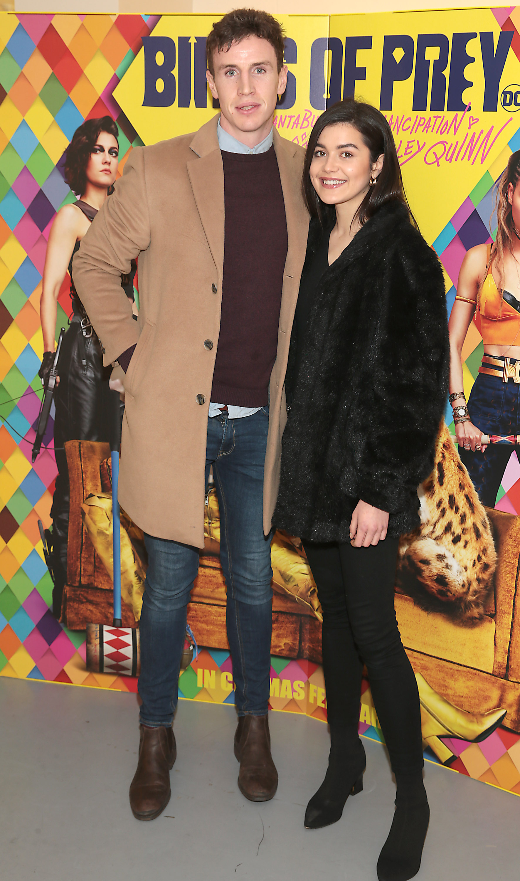 Sean Hurley and Niamh Dunne at the special preview screening of Birds of Prey at the Lighthouse Cinema, Dublin. Pic: Brian McEvoy